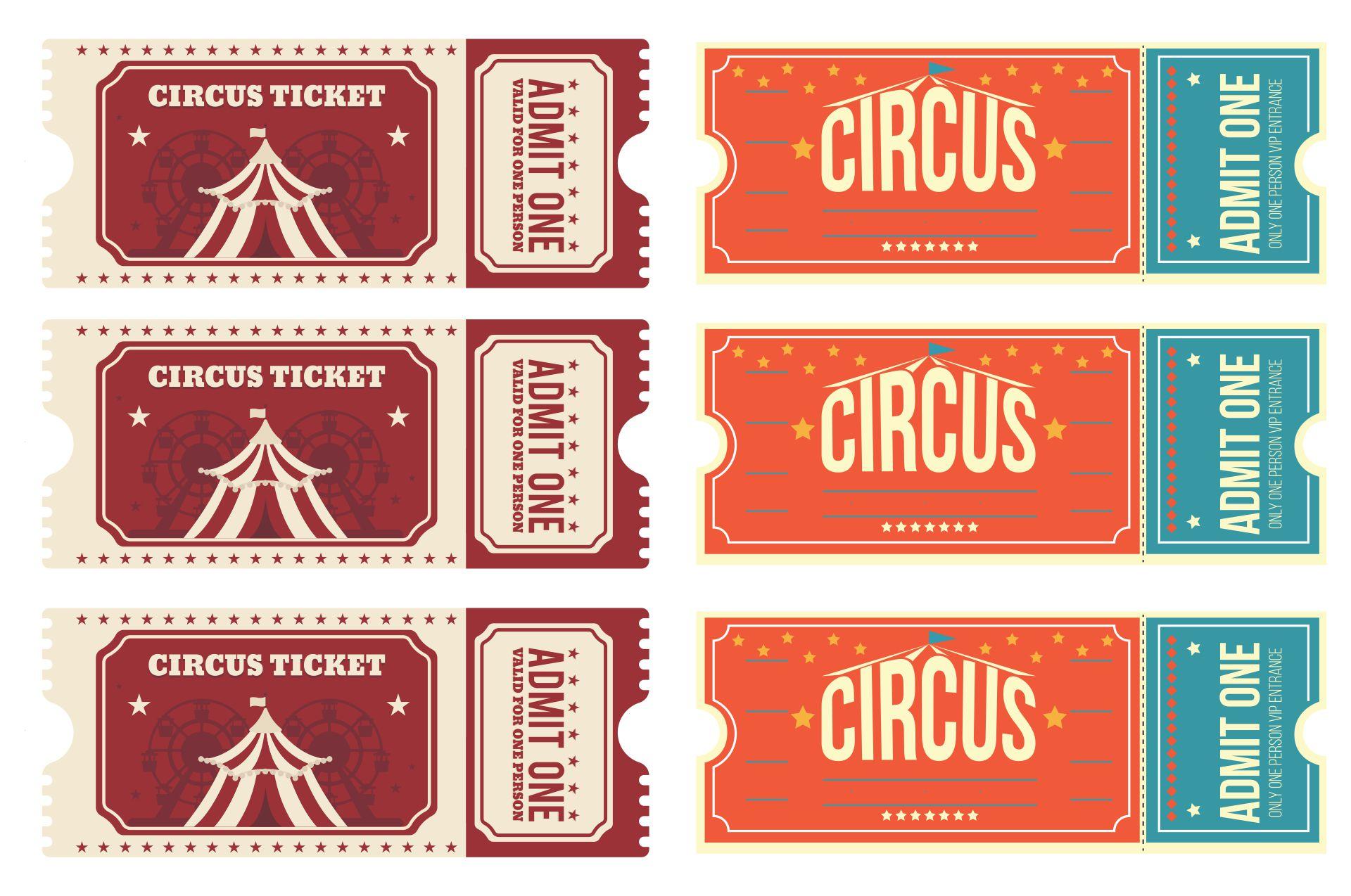 Carnival Ticket Design Template