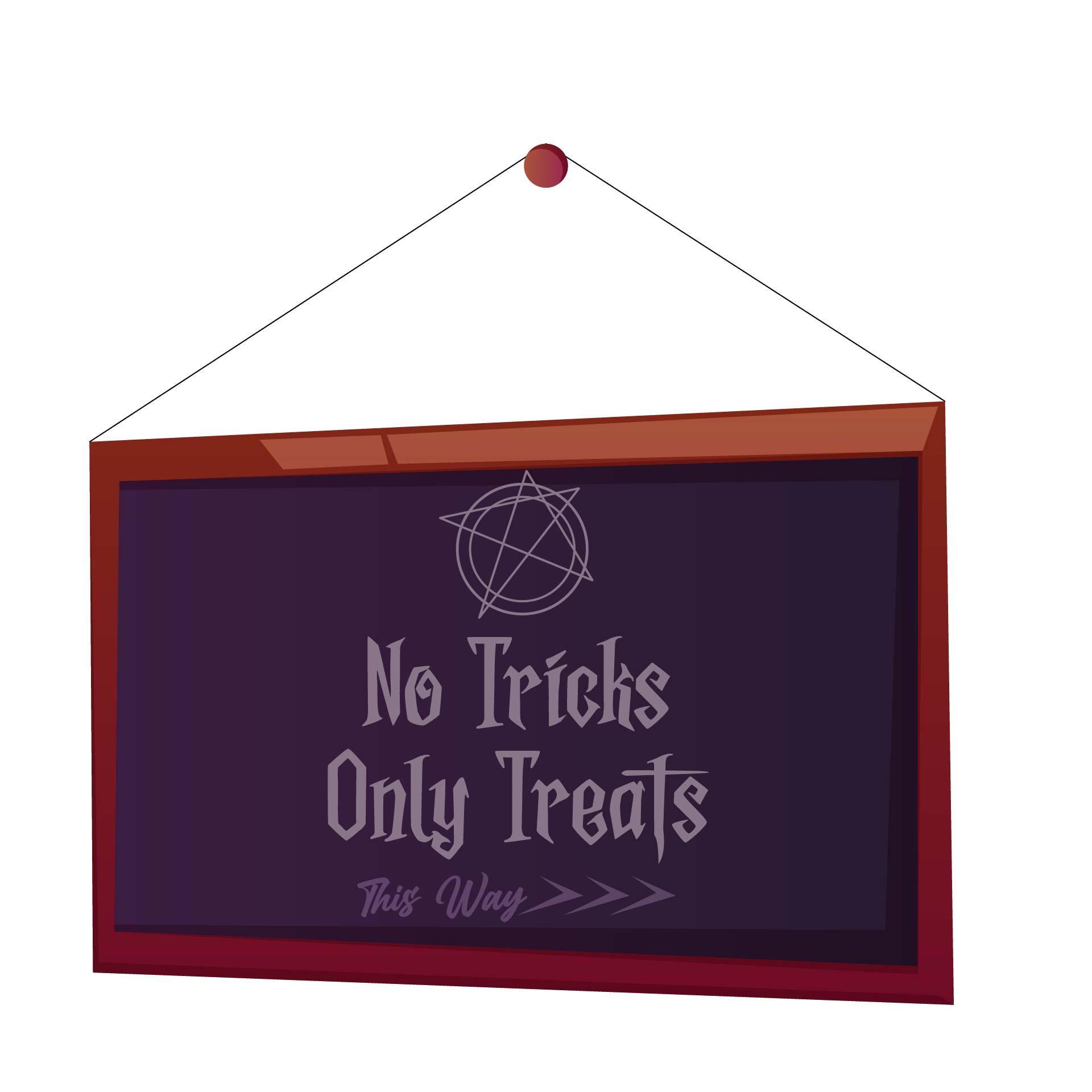 Door Sign For The Halloween Party