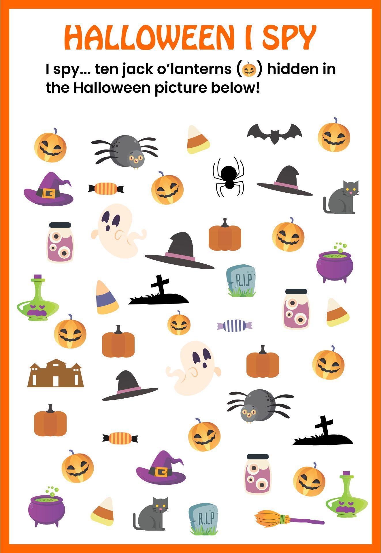 Find The Hidden Pumpkin Activity Sheet