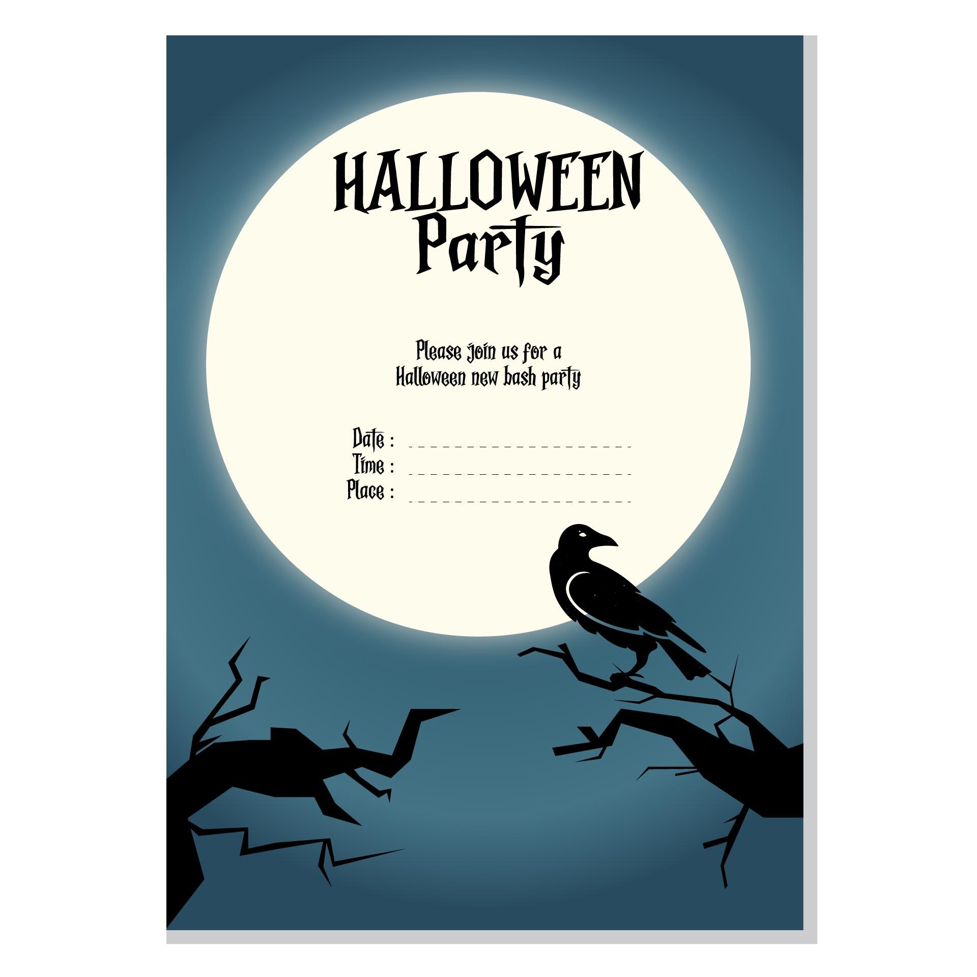 Free Halloween Birthday Invitation Templates