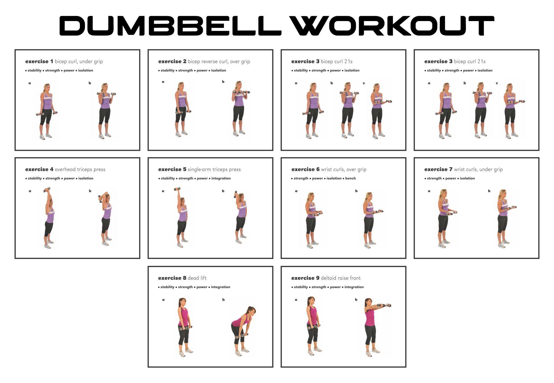 10 Best Free Printable Dumbbell Workout Poster Printablee Com