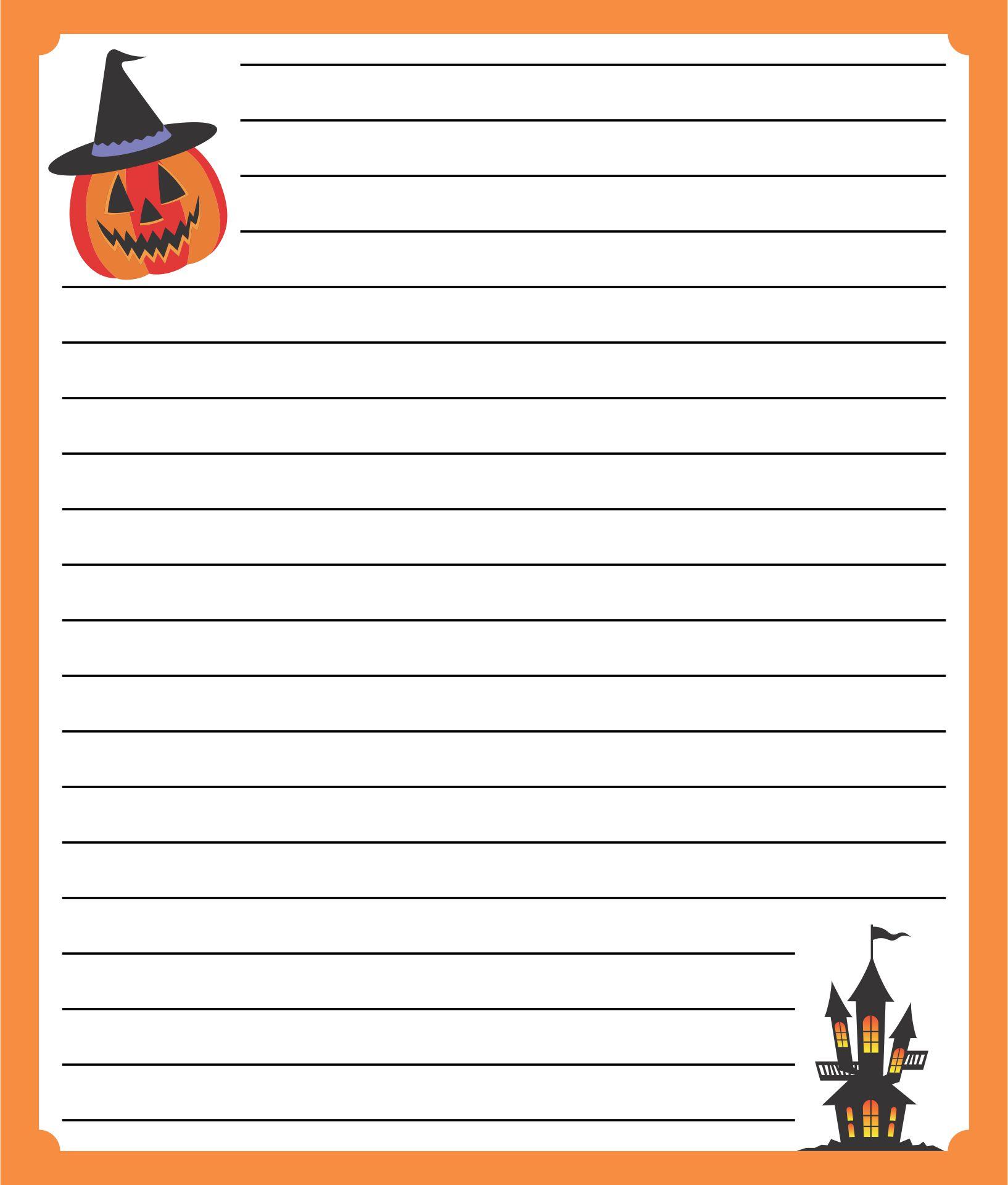 Free Printable Halloween Border Writing Paper