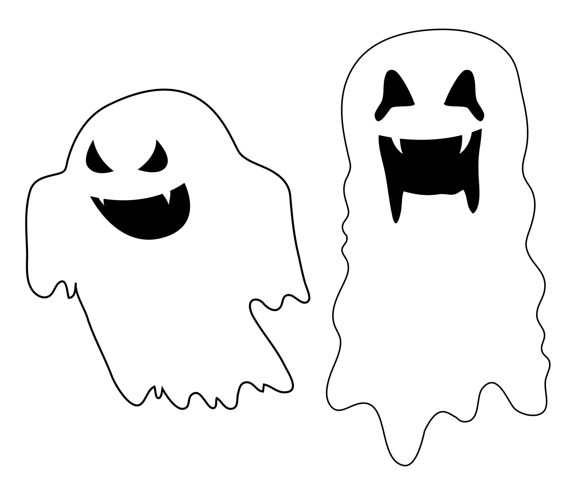 Free Printable Halloween Ghost Templates