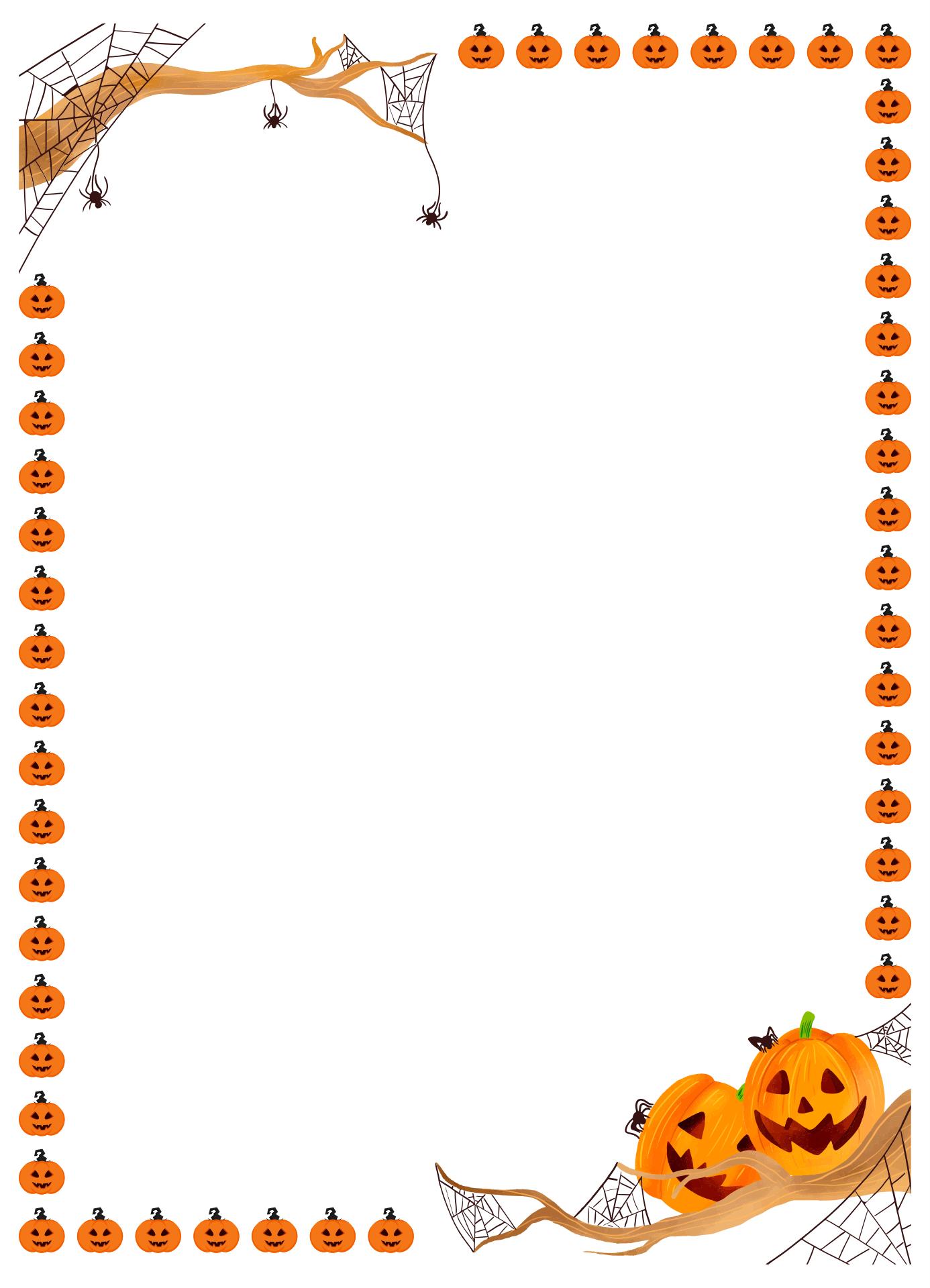 Free Printable Halloween Stationery Borders