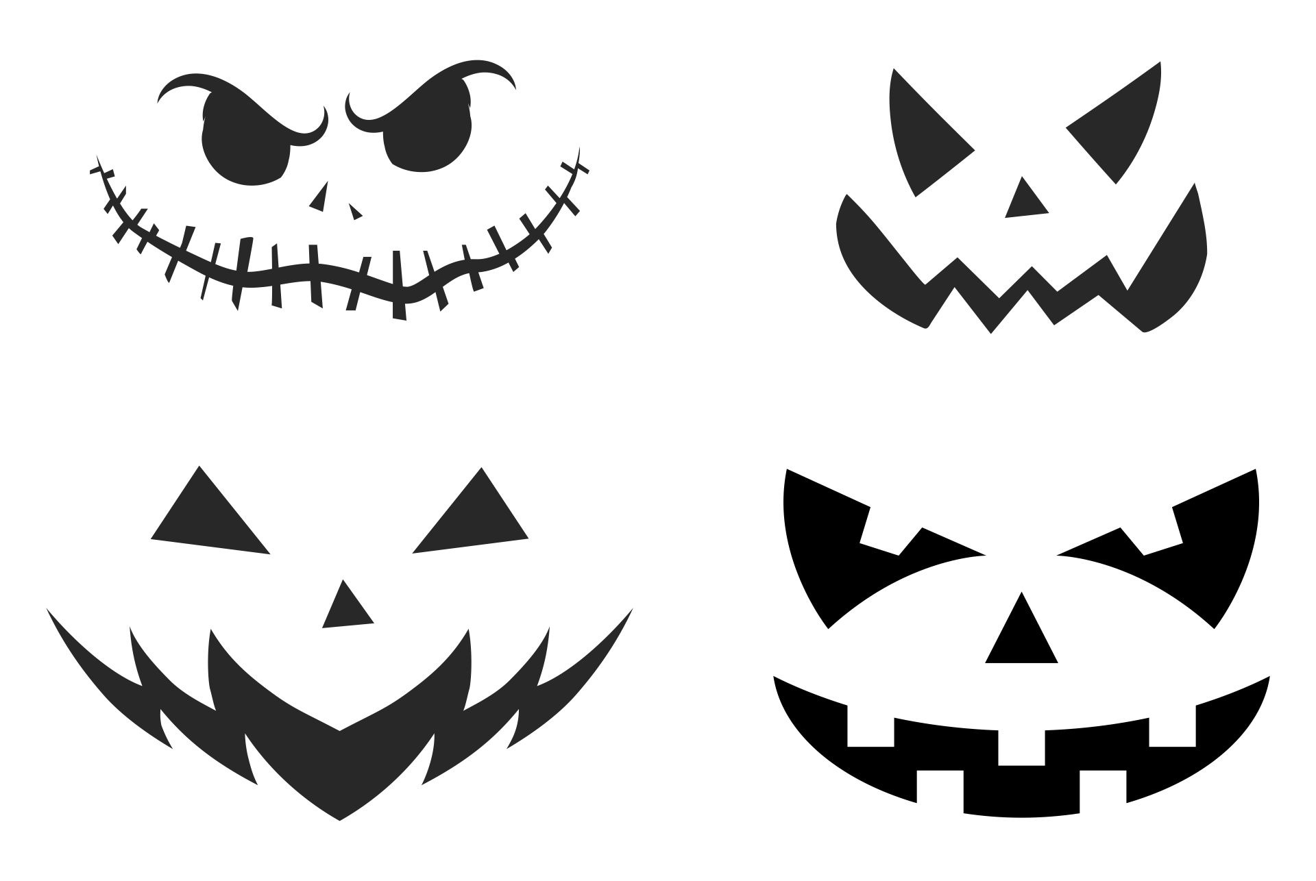Free Pumpkin Stencils For Halloween Printables