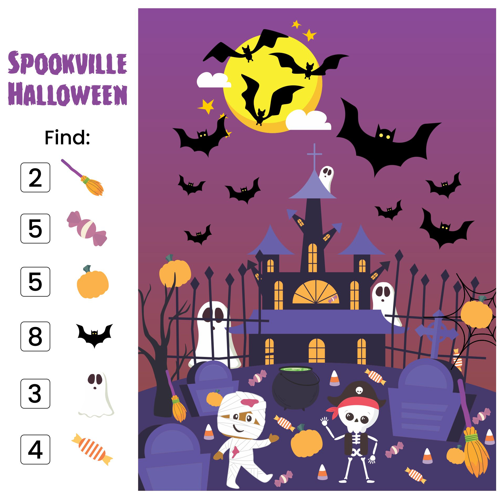Free Spookville Halloween Printable