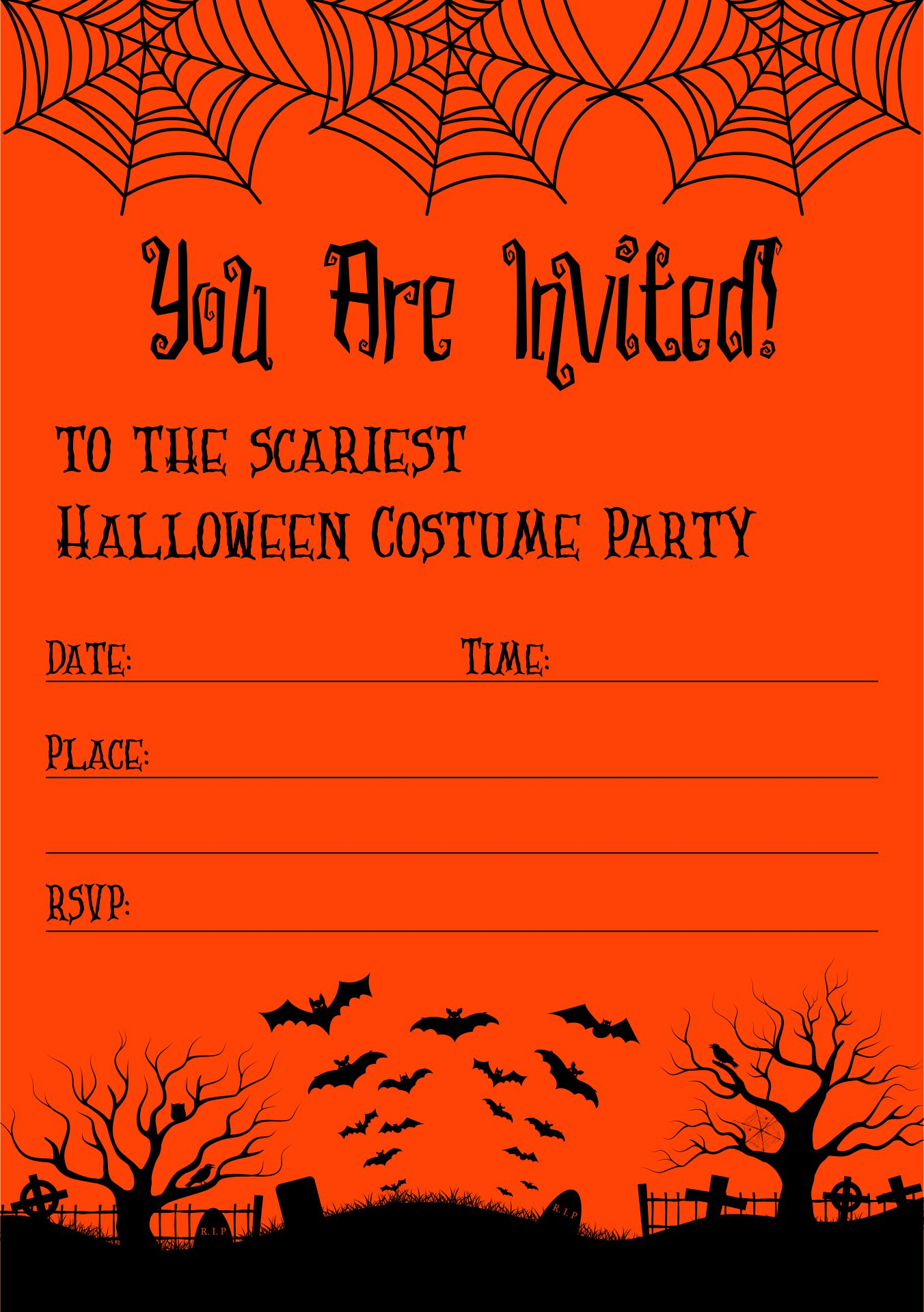Funny Halloween Invitation Wording For Adults