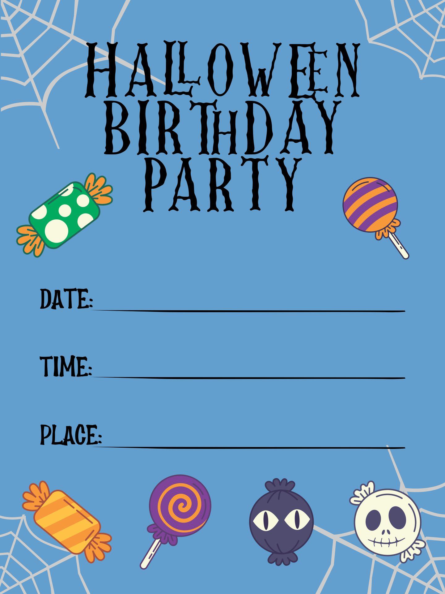 Halloween Birthday Invitations Templates