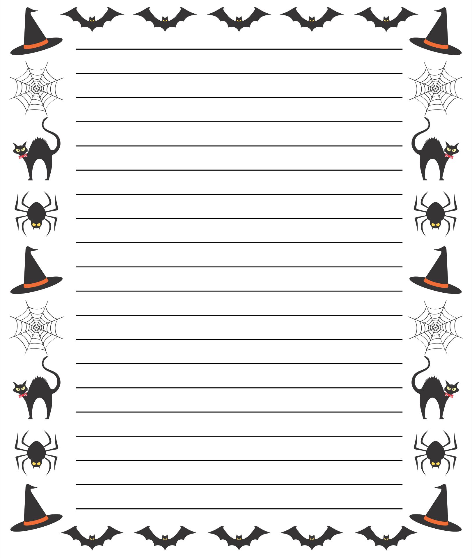 Halloween Border Paper Template