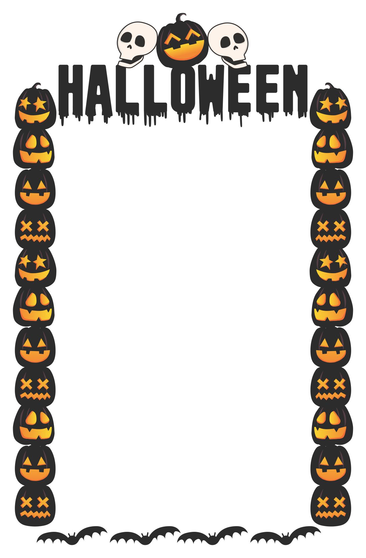 Halloween Paper Borders Printables
