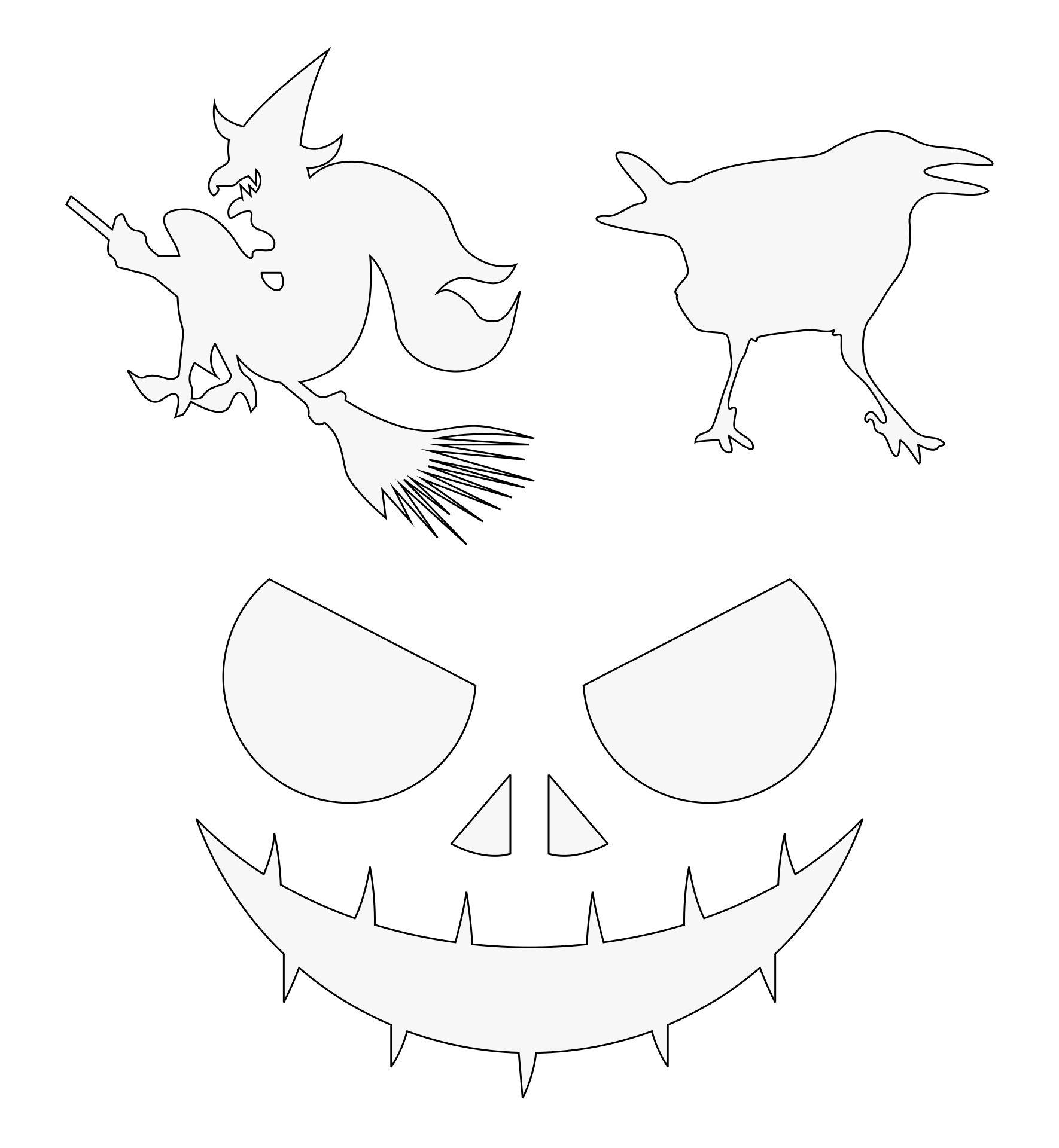 Halloween Pumpkin Carving Stencils Printable