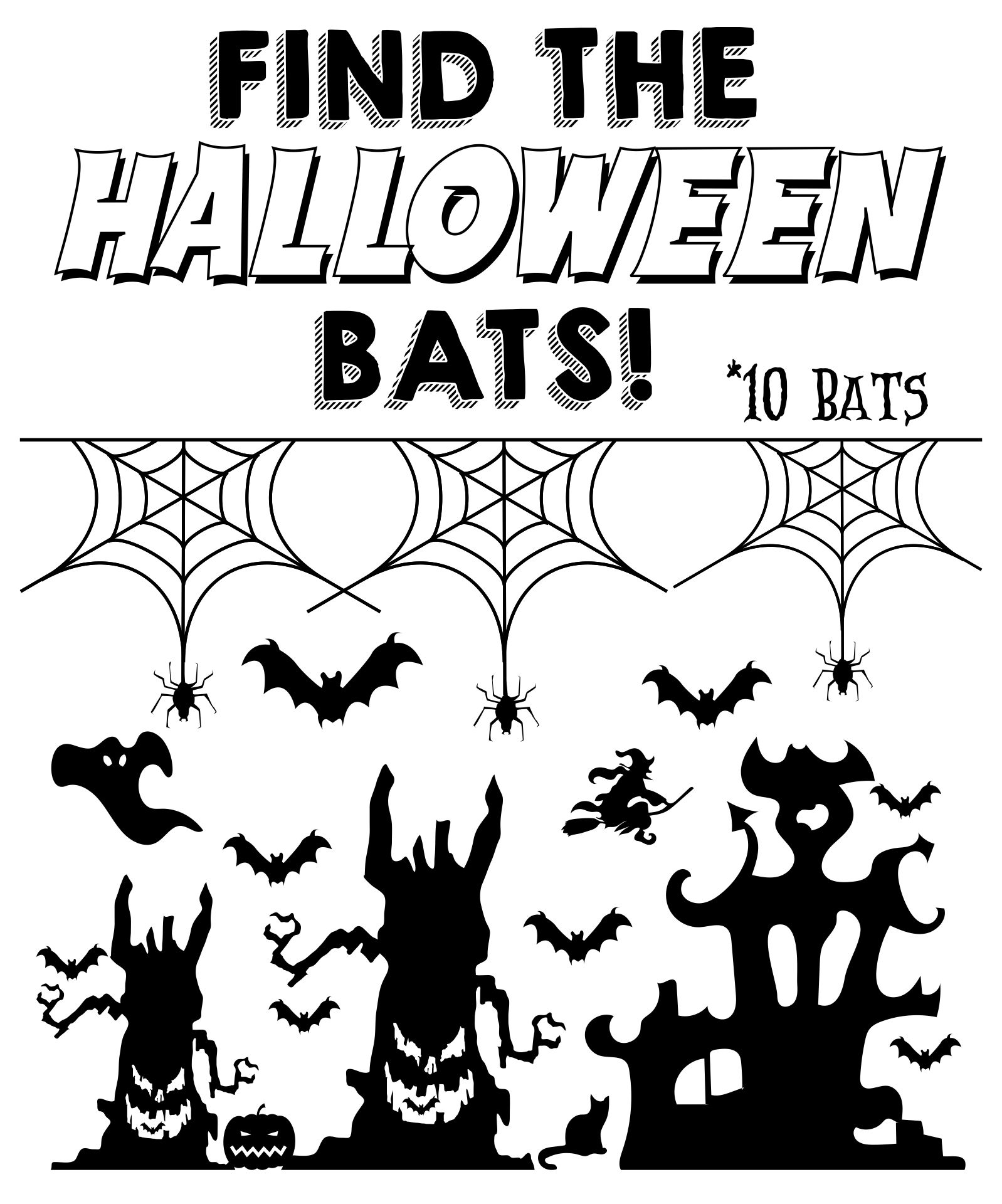 Halloween Seek And Find Picture Printables