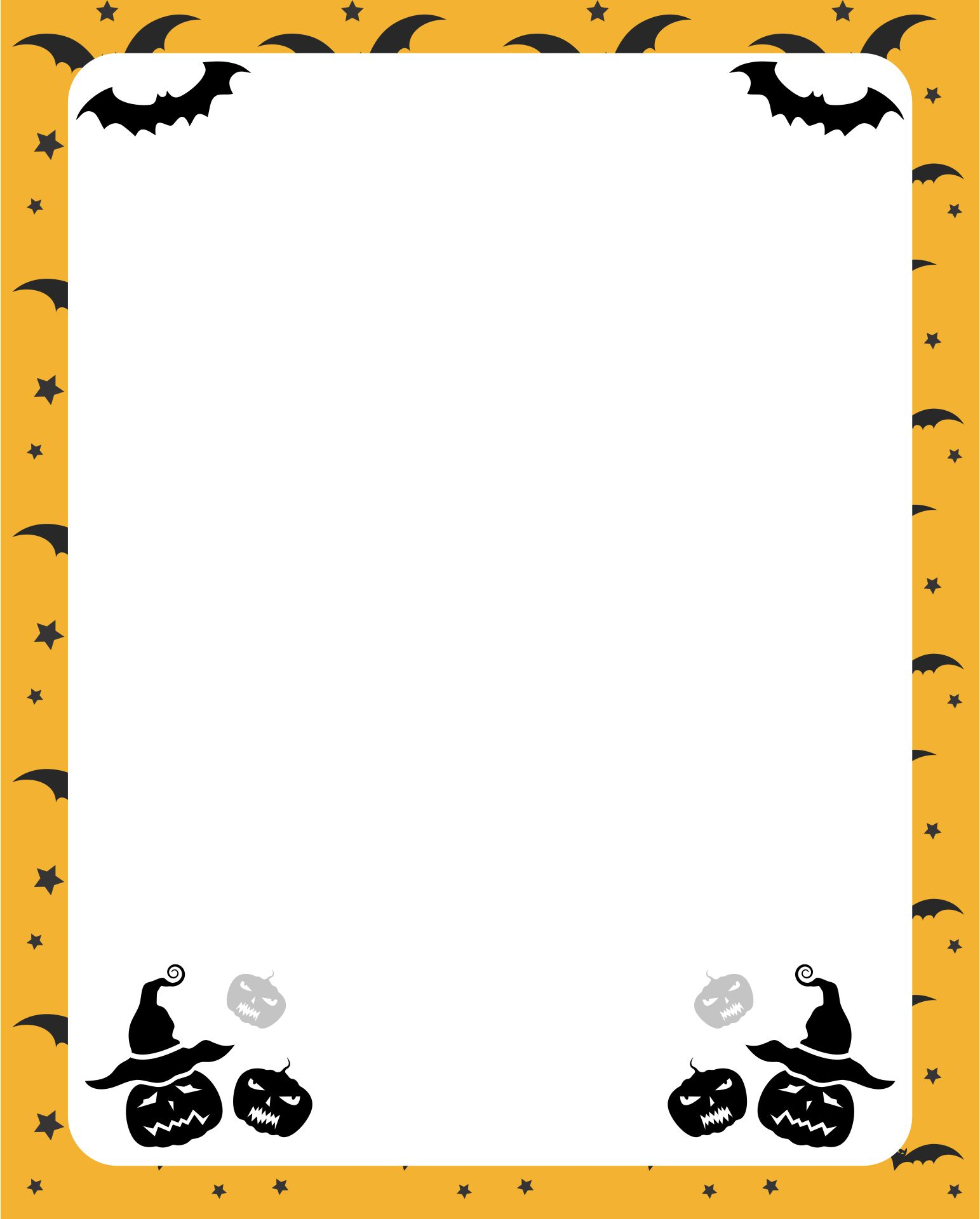 Halloween Stationery Paper Printable