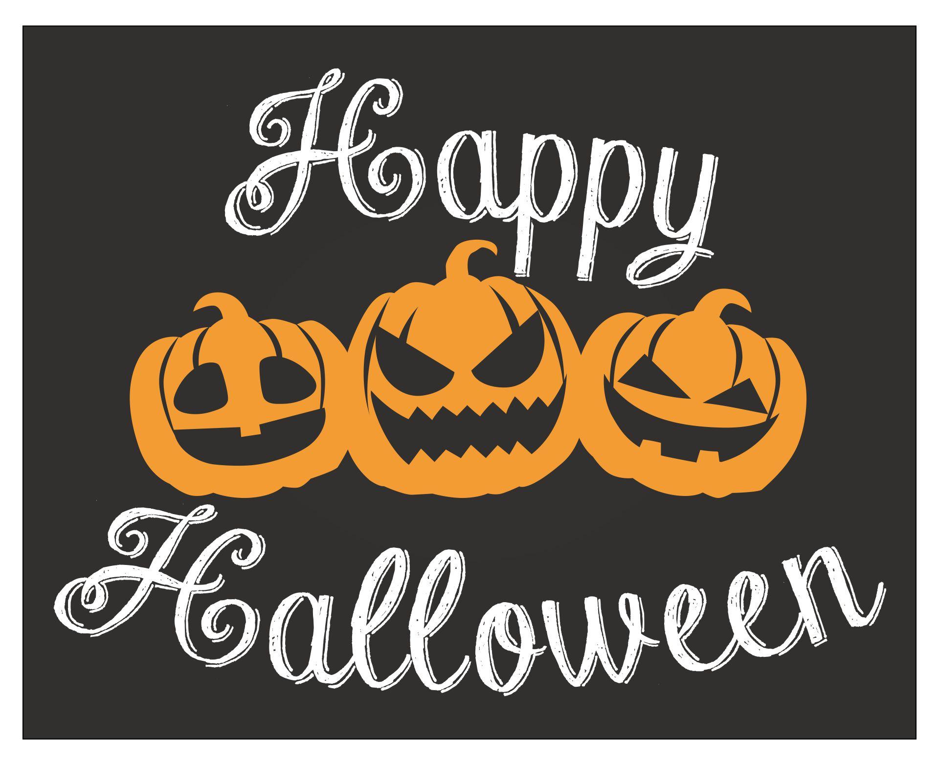 Happy Halloween Chalkboard Sign