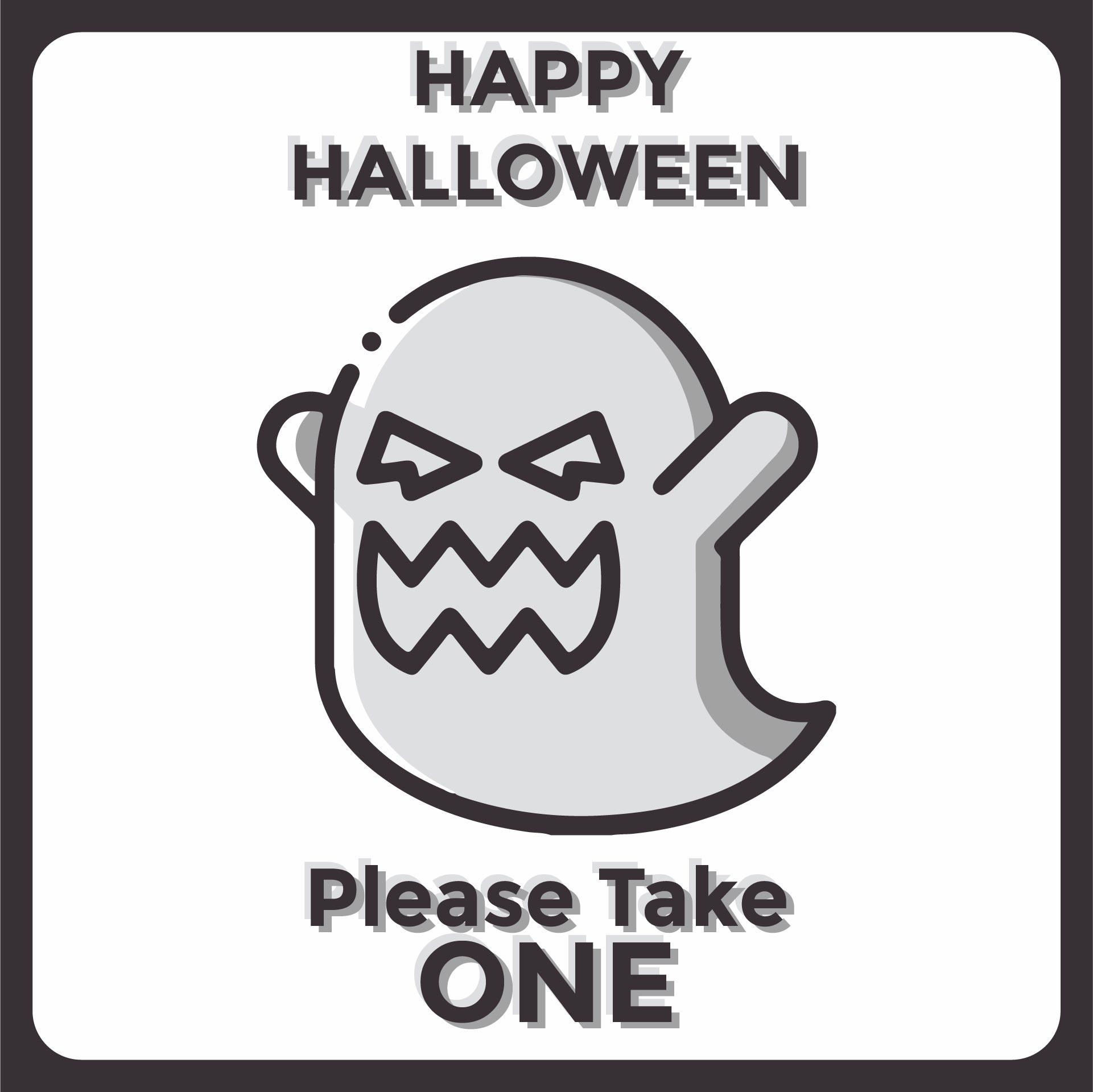 Printable Halloween Candy Bowl Signs