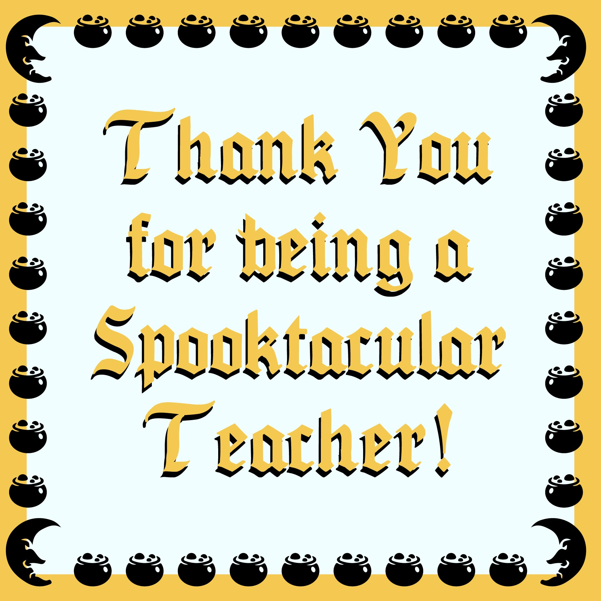 Printable Halloween Gift Tags For Teachers
