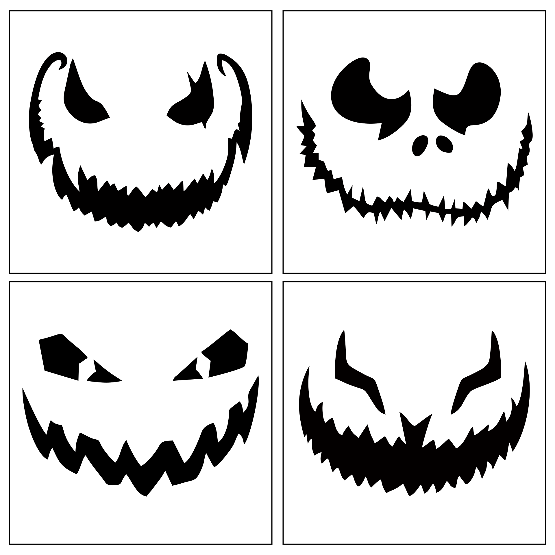 Printable Halloween Pumpkin Carving Designs