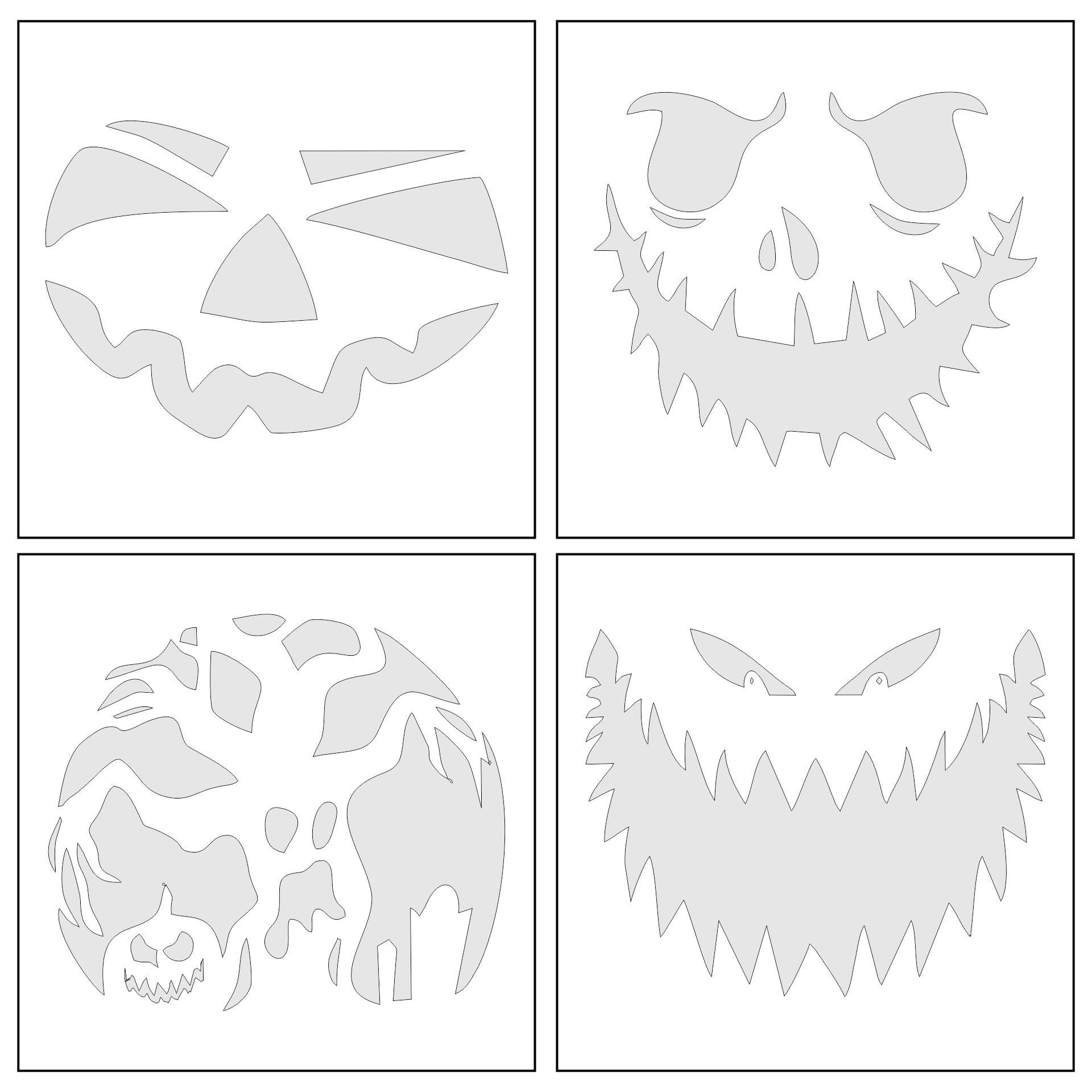 Scary Halloween Pumpkin Stencils Printable