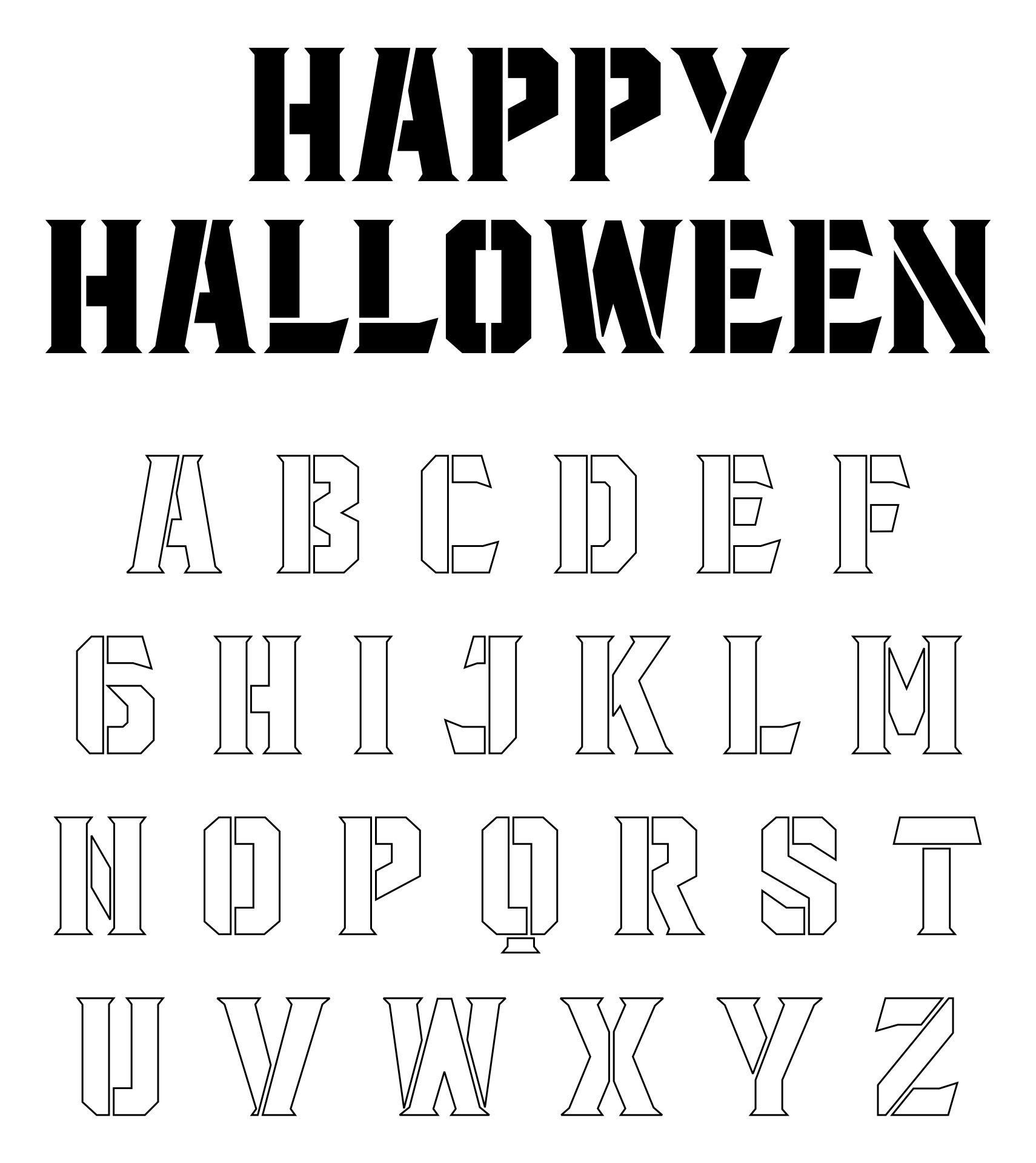 Alphabet Pumpkin Stencil