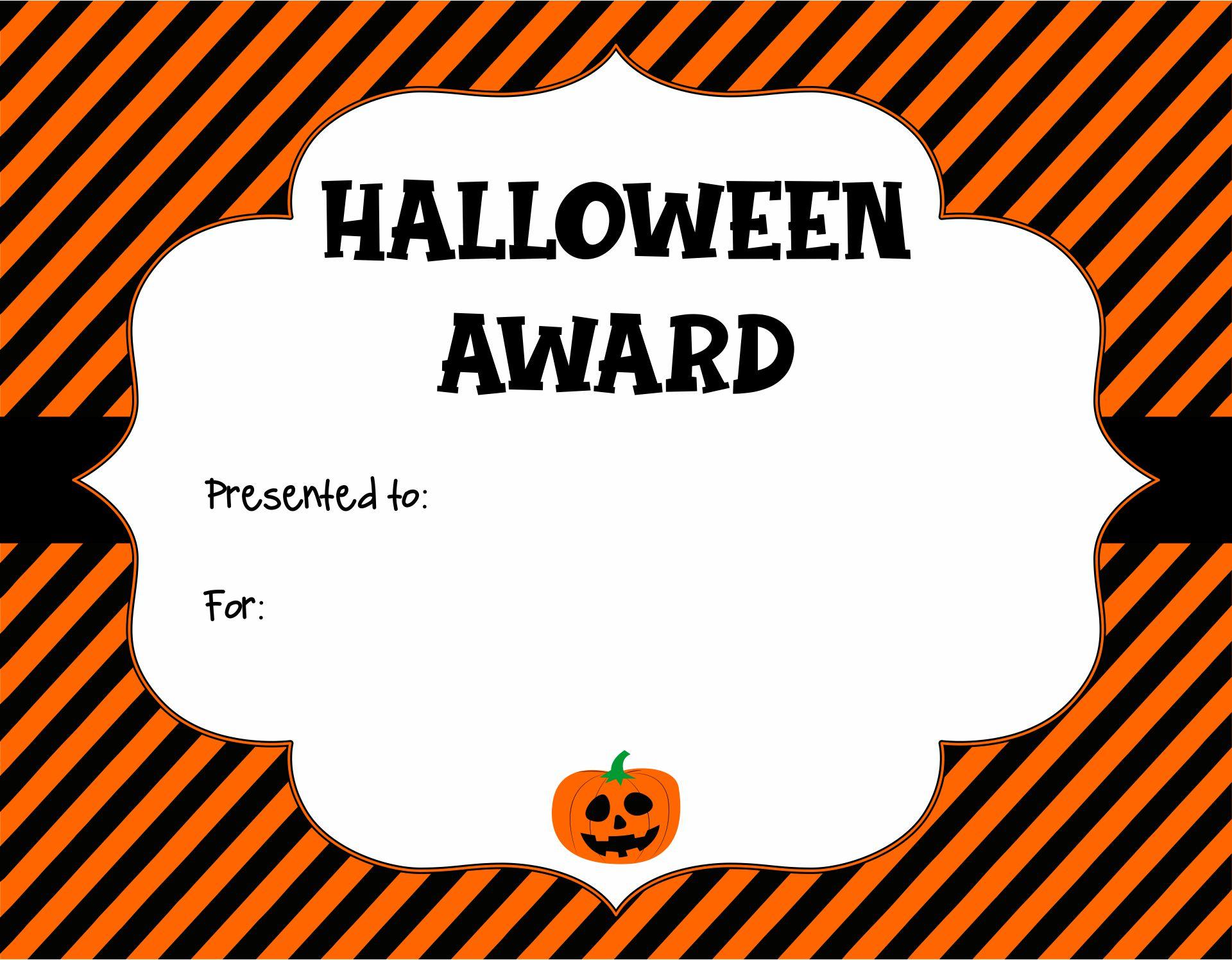 Blank Certificates - Halloween Certificate Template