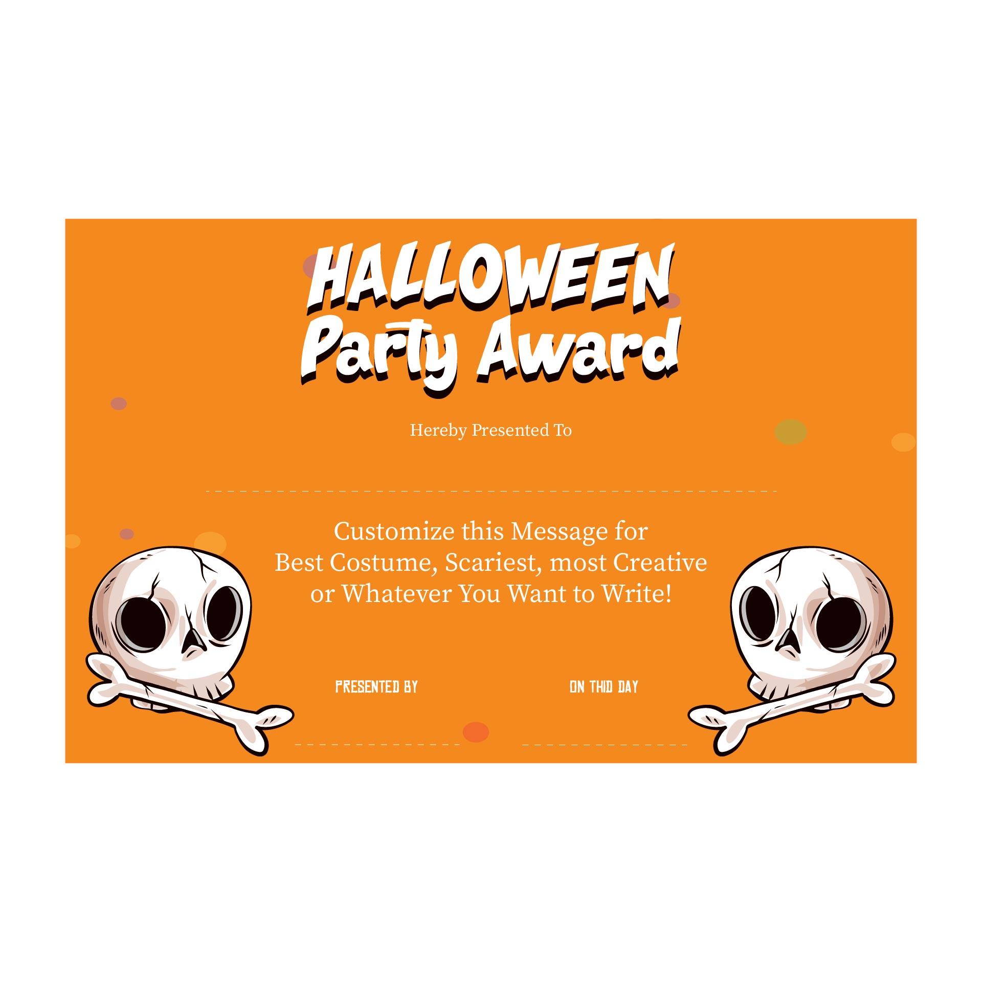Cool Halloween Costume Awards