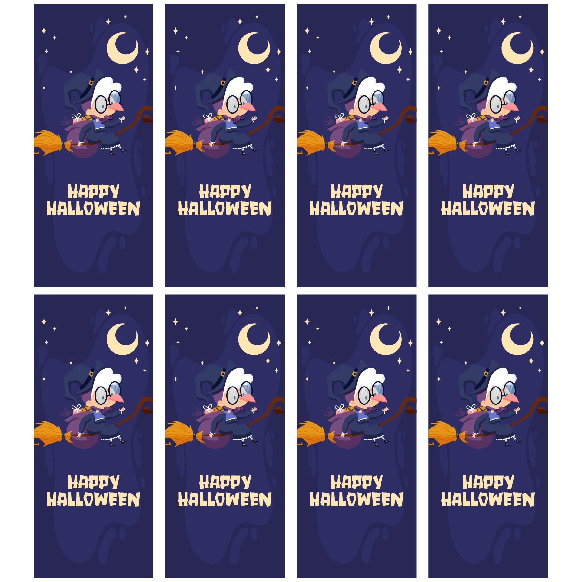 Creepy Halloween Bookmarks October Spooky Halloween Themed