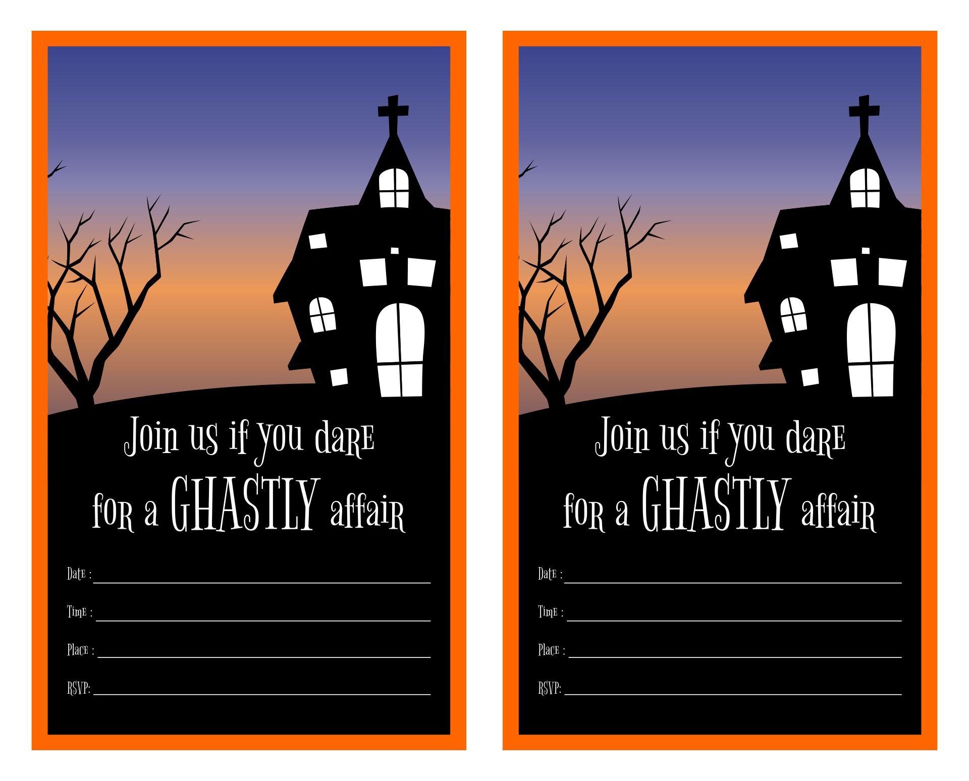 Creepy Halloween Invitation Sayings