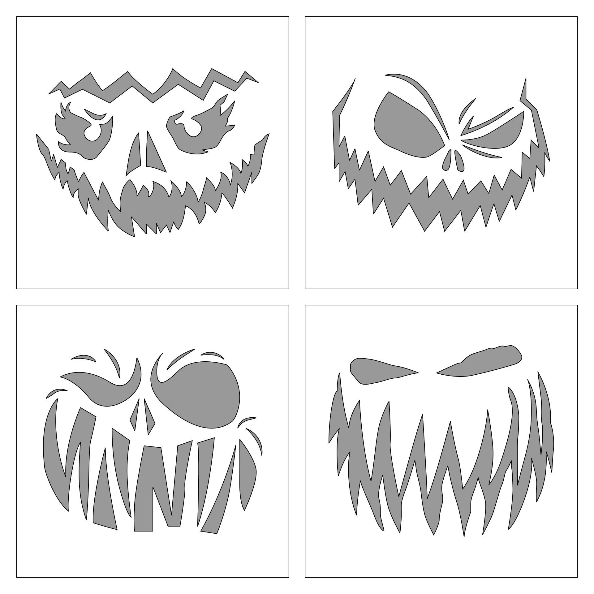 Creepy Halloween Pumpkin Faces Printable
