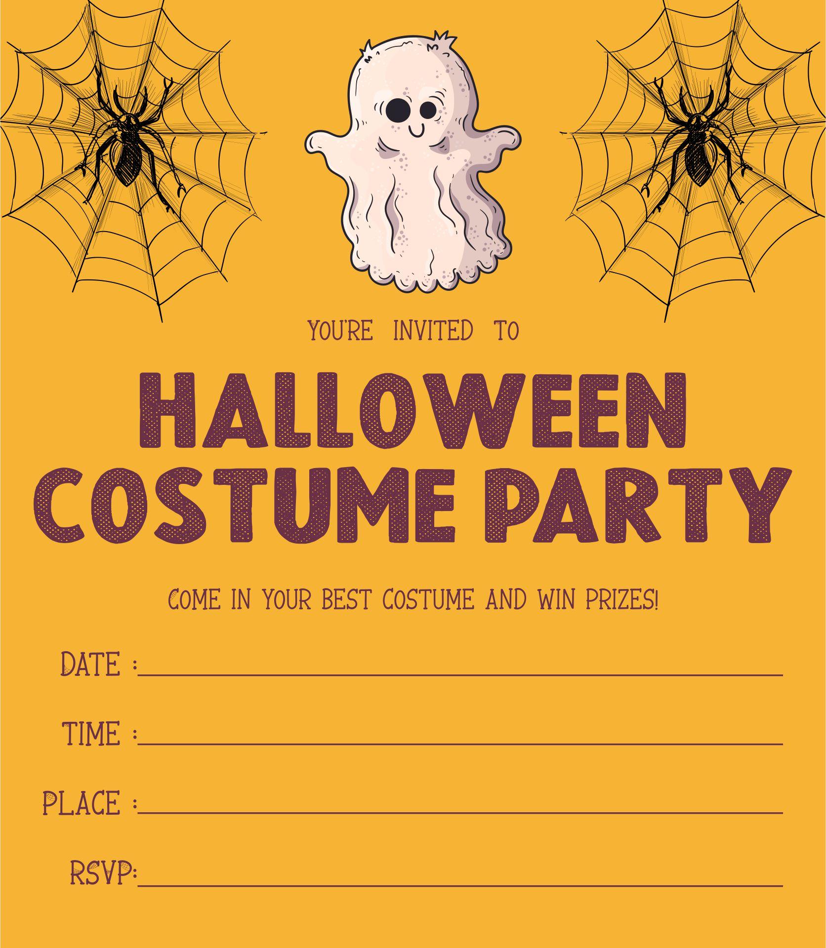 Creepy Halloween Scare Costume Party Invitation