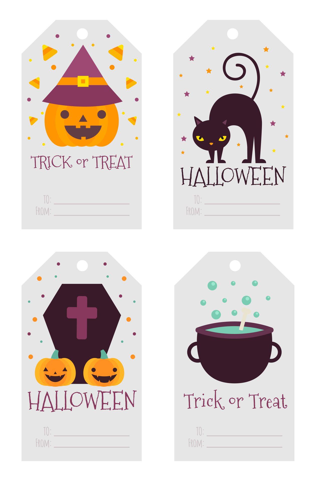 Cute Halloween Printable Gift Tags