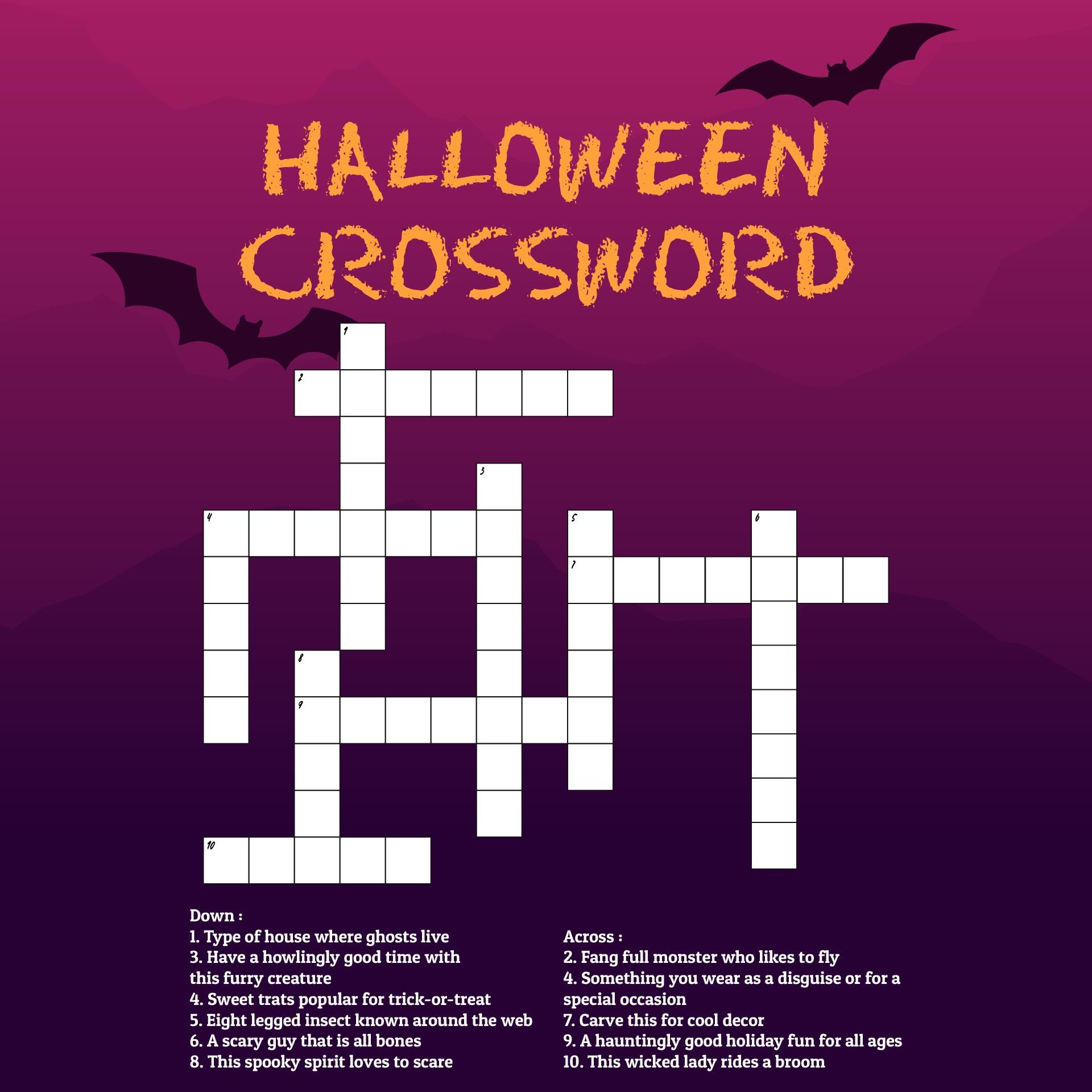 Easy Crossword Worksheet