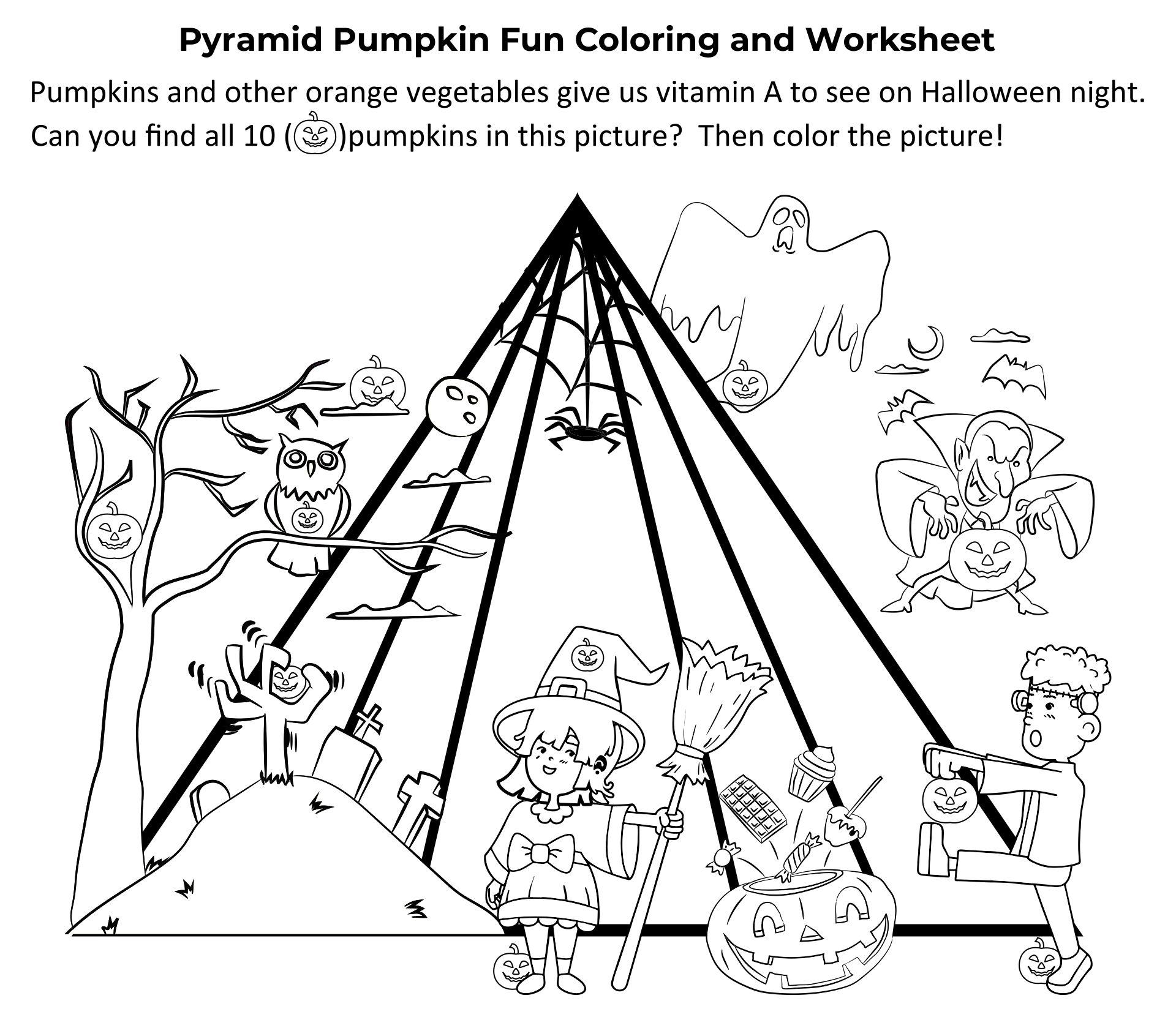 Find The Hidden Pumpkin Food Pyramid Activity Sheet