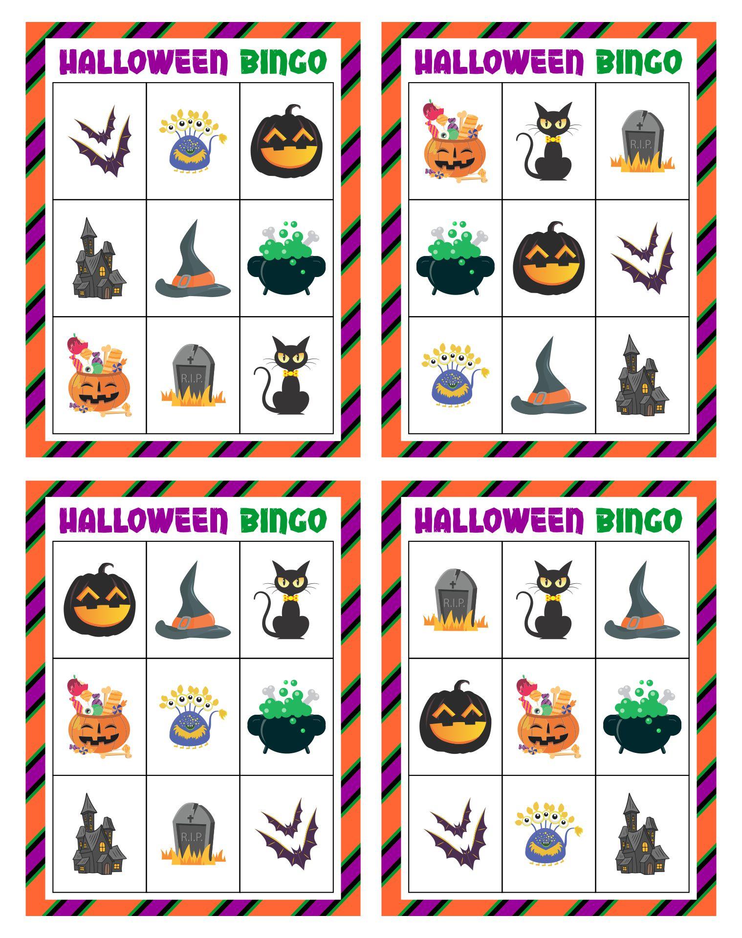 Free Halloween Bingo Cards For Kids