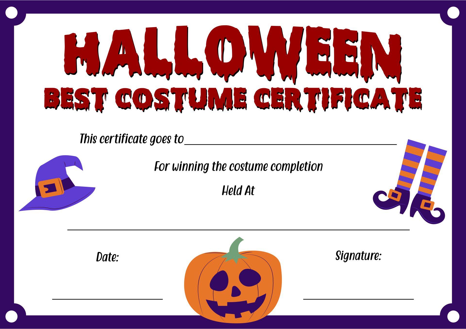 Free Halloween Certificates To Print