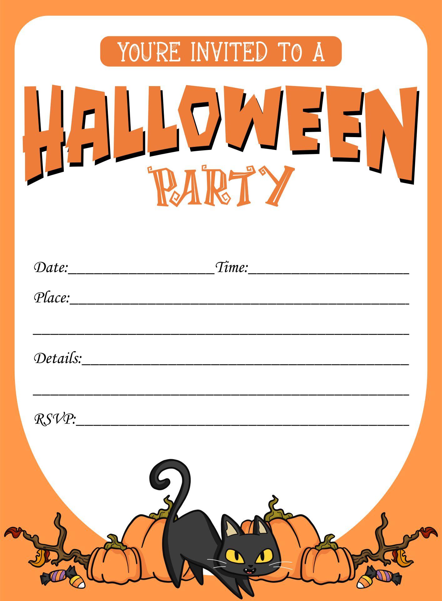 Free Halloween Invitation Templates Printable
