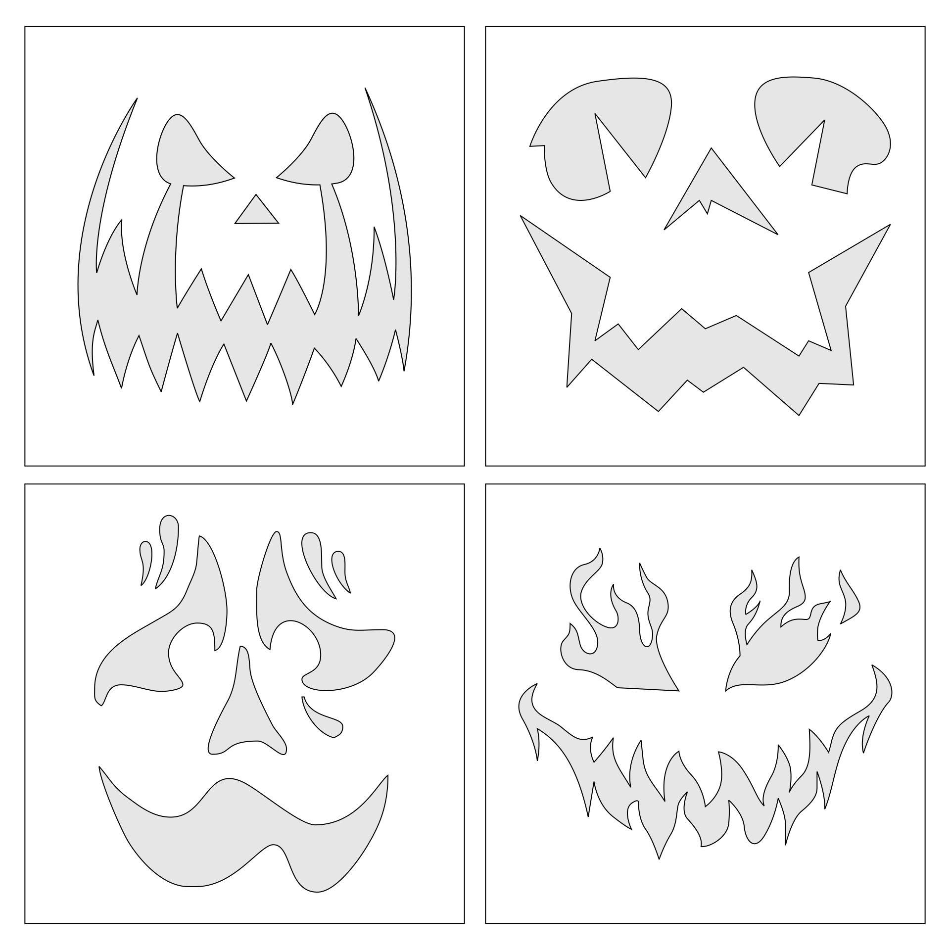 Free Halloween Themed Printable Stencils
