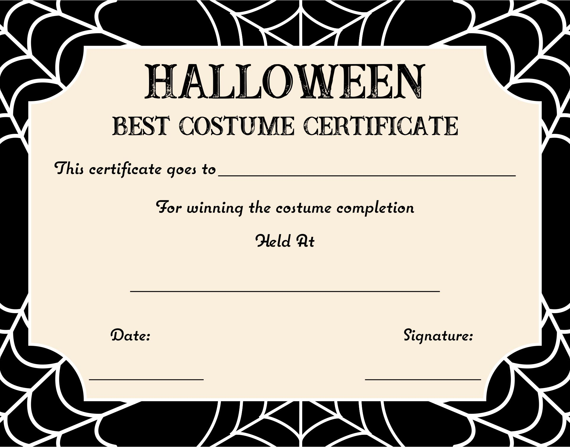 Free Print Awards Certificates Templates