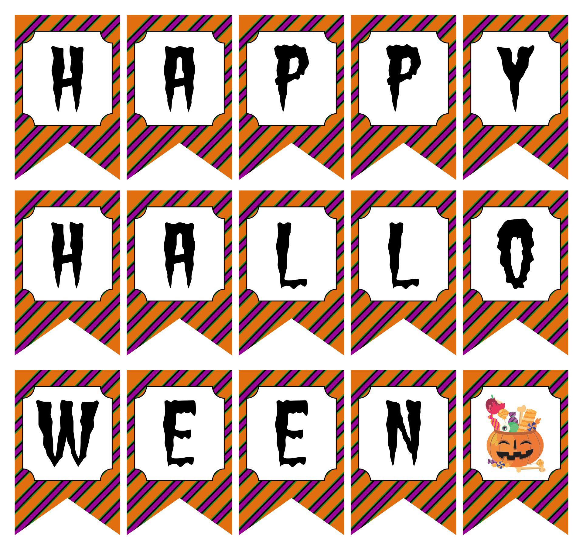 Free Printable Halloween Banner Set