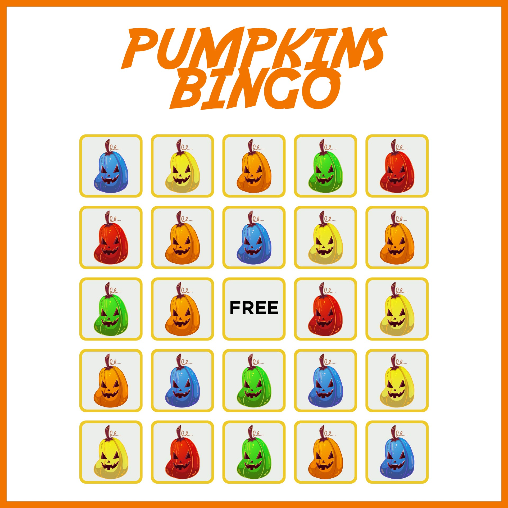 Free Printable Halloween Game Templates