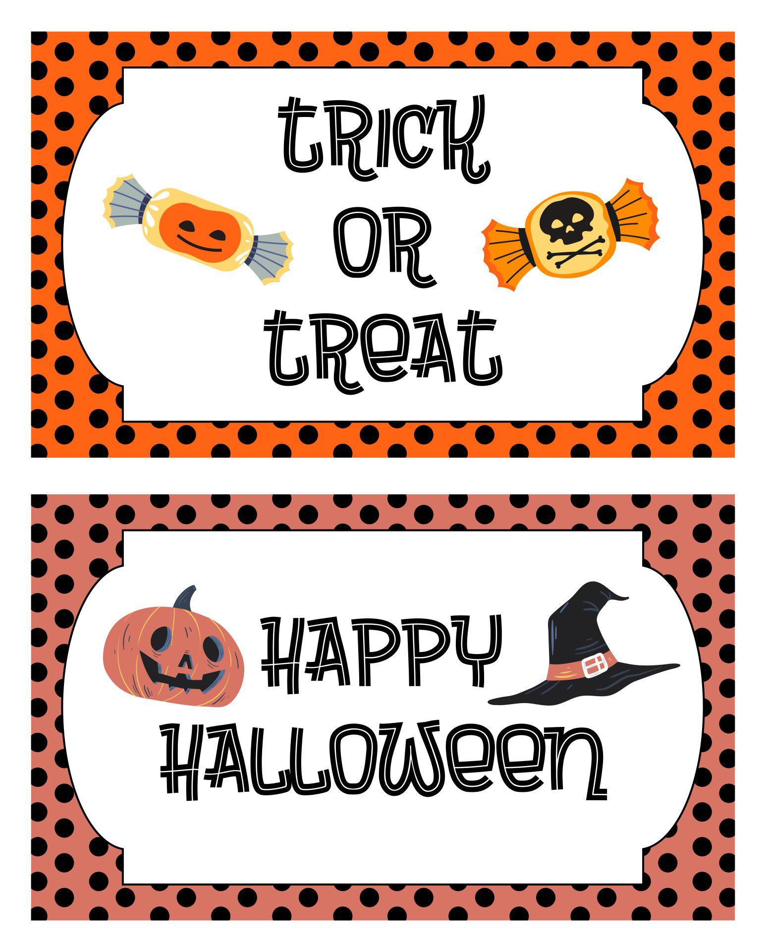 Free Printable Halloween Goodie Bag Labels