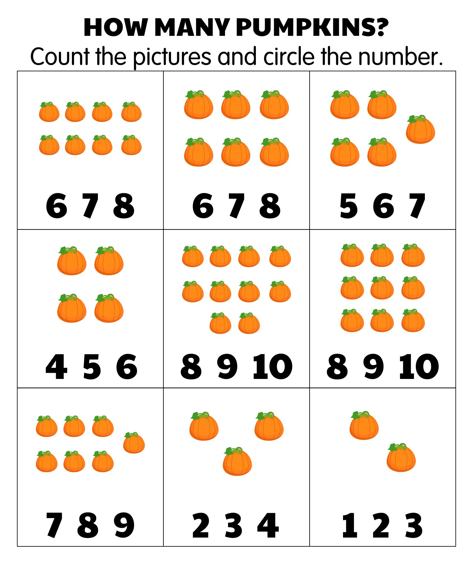 Free Printable Halloween Math Worksheets
