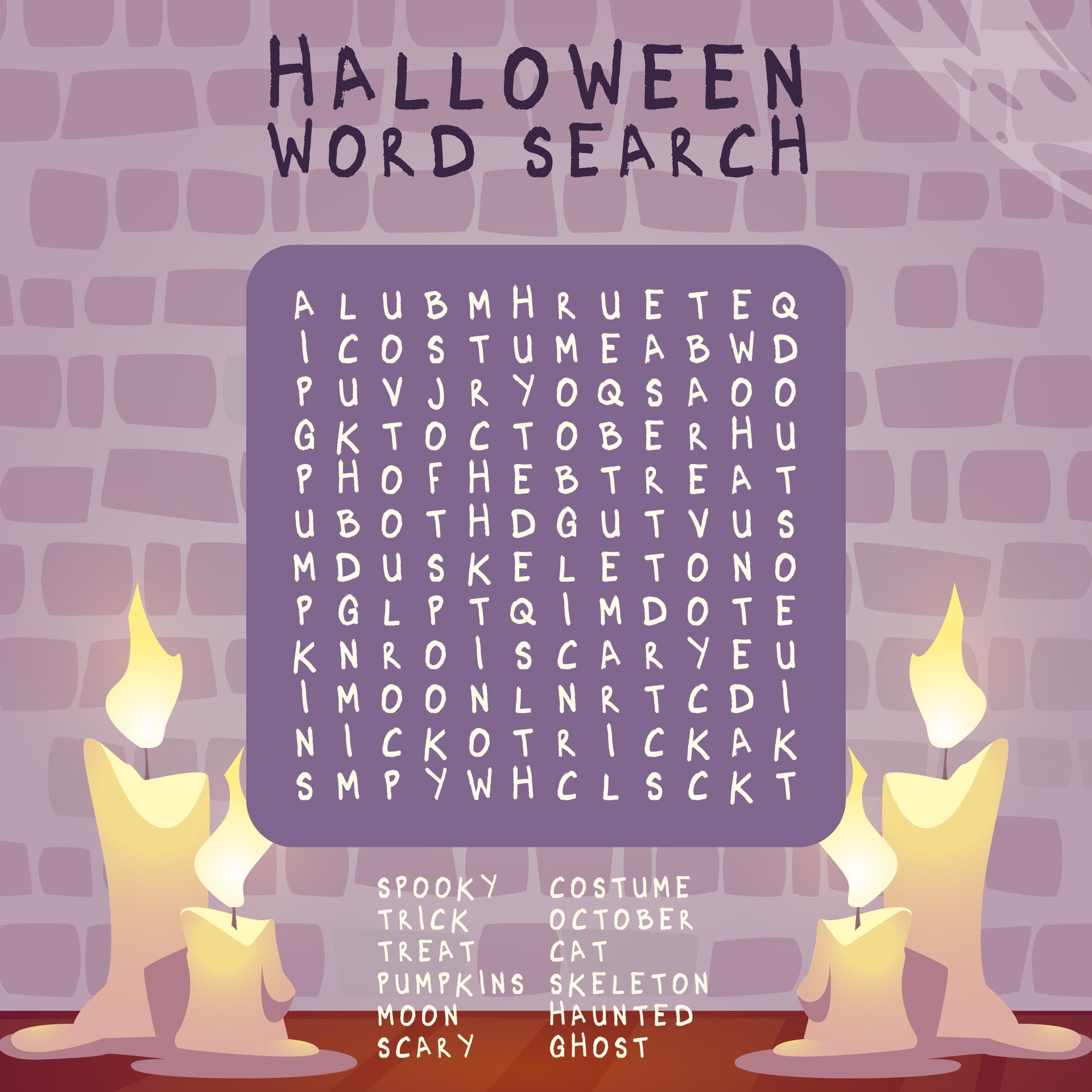 Free Printable Halloween Word Search Games