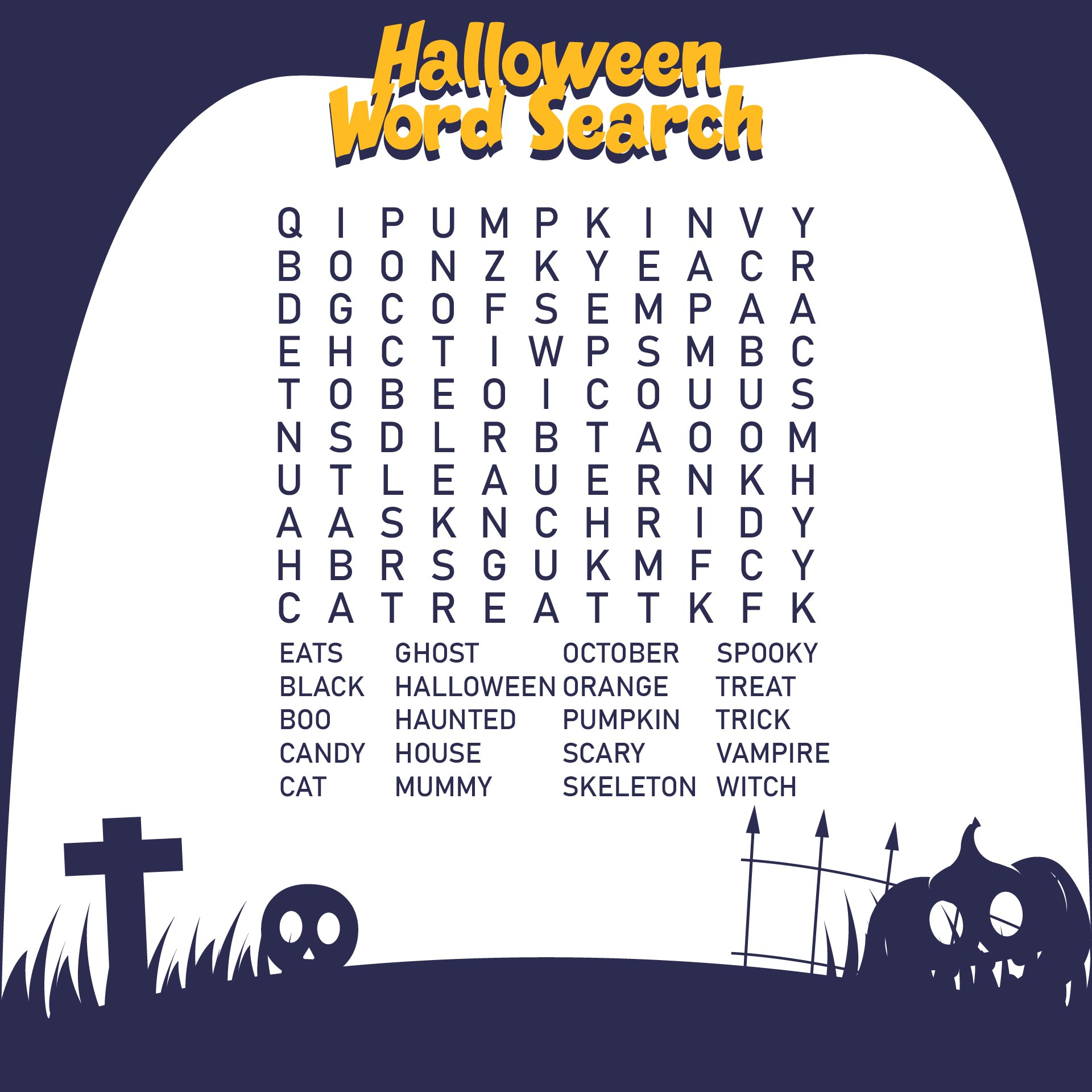 Free Printable Halloween Word Search Puzzles For Adults