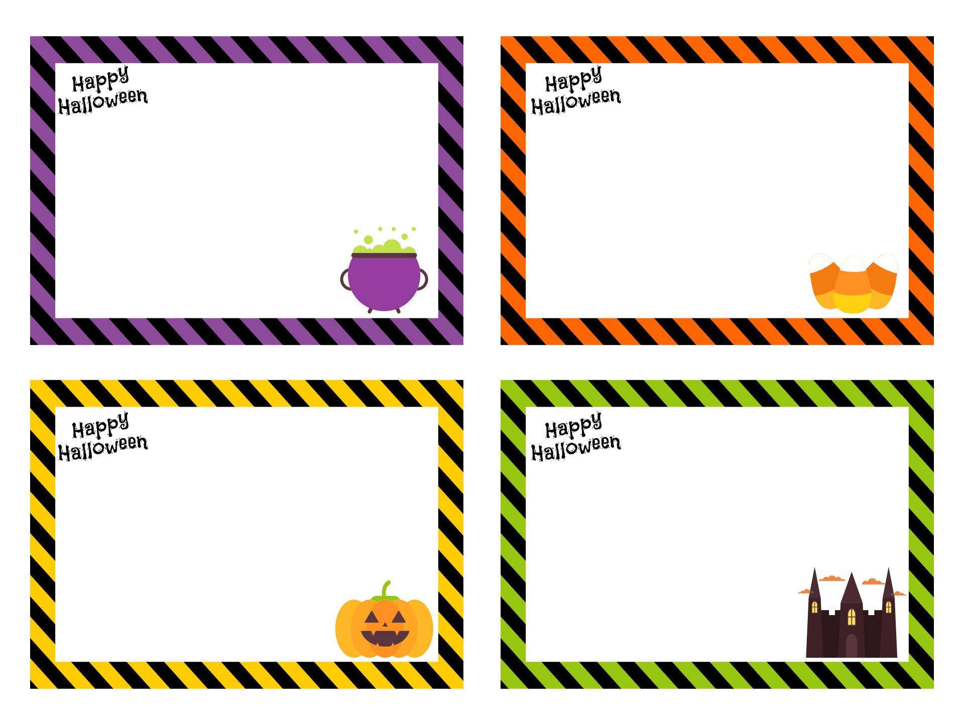 Free Printable Happy Halloween Name Tags