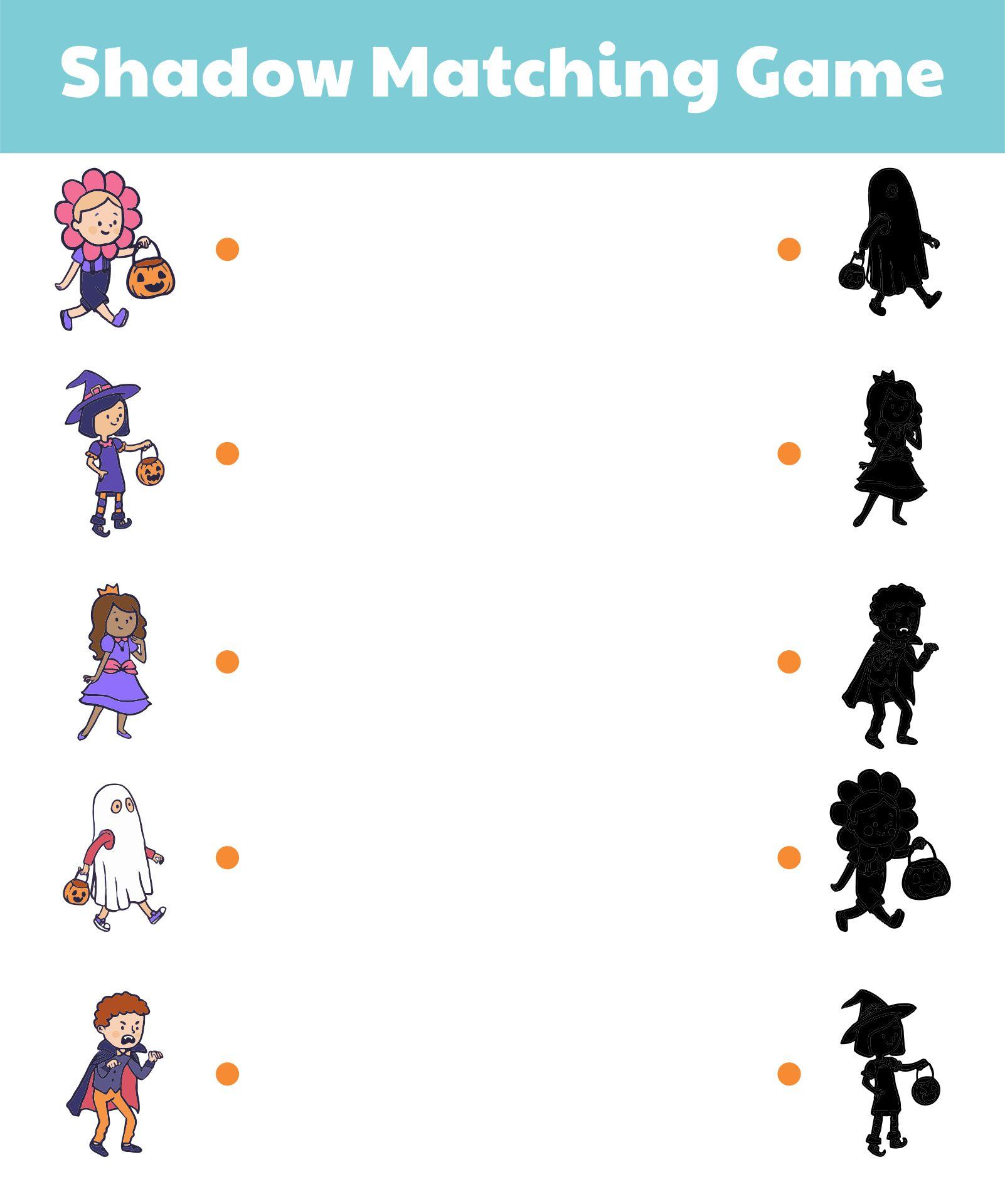 Free Printable Kids Halloween Matching Game For Preschoolers
