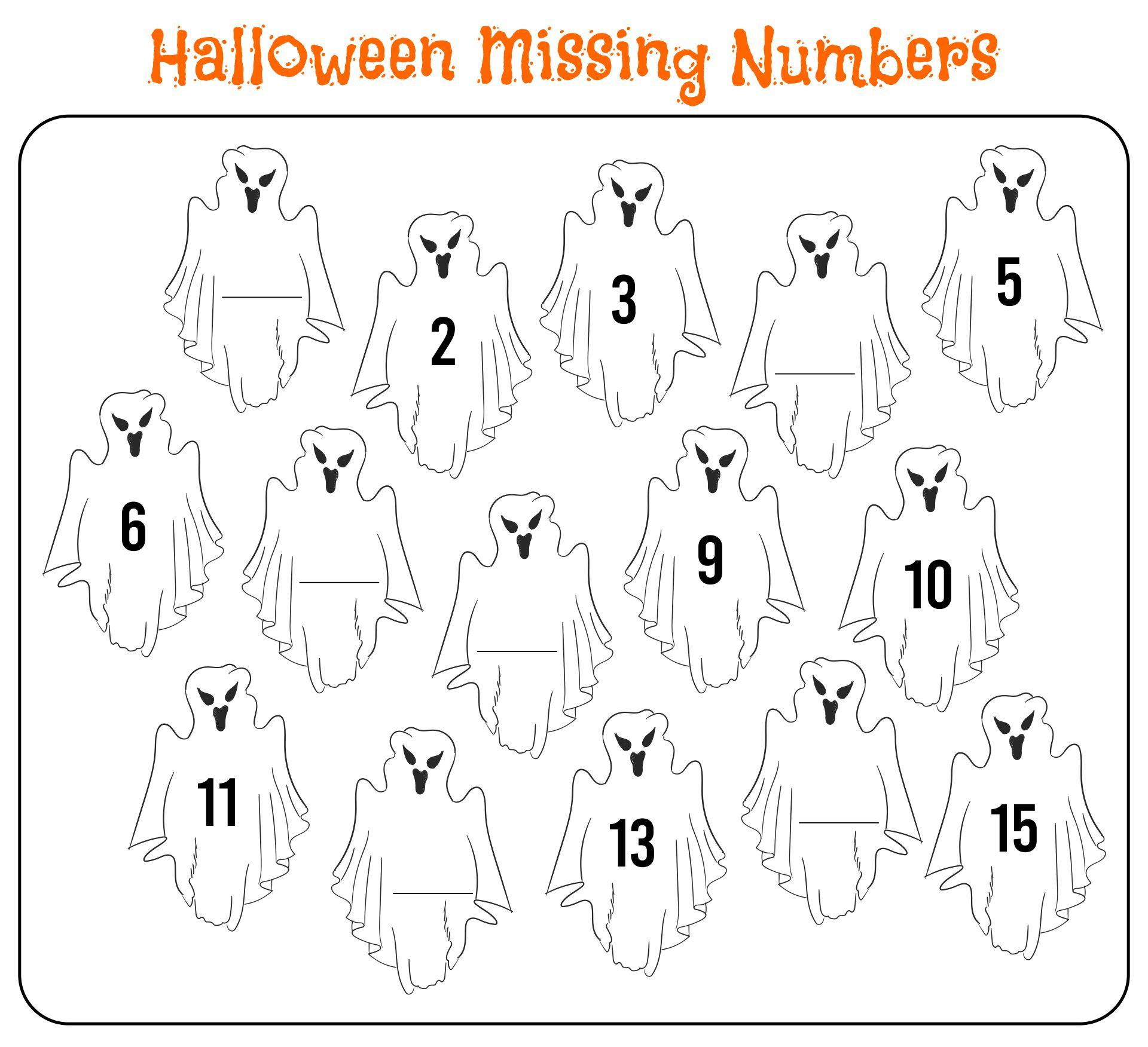 Fun Halloween Math Worksheets