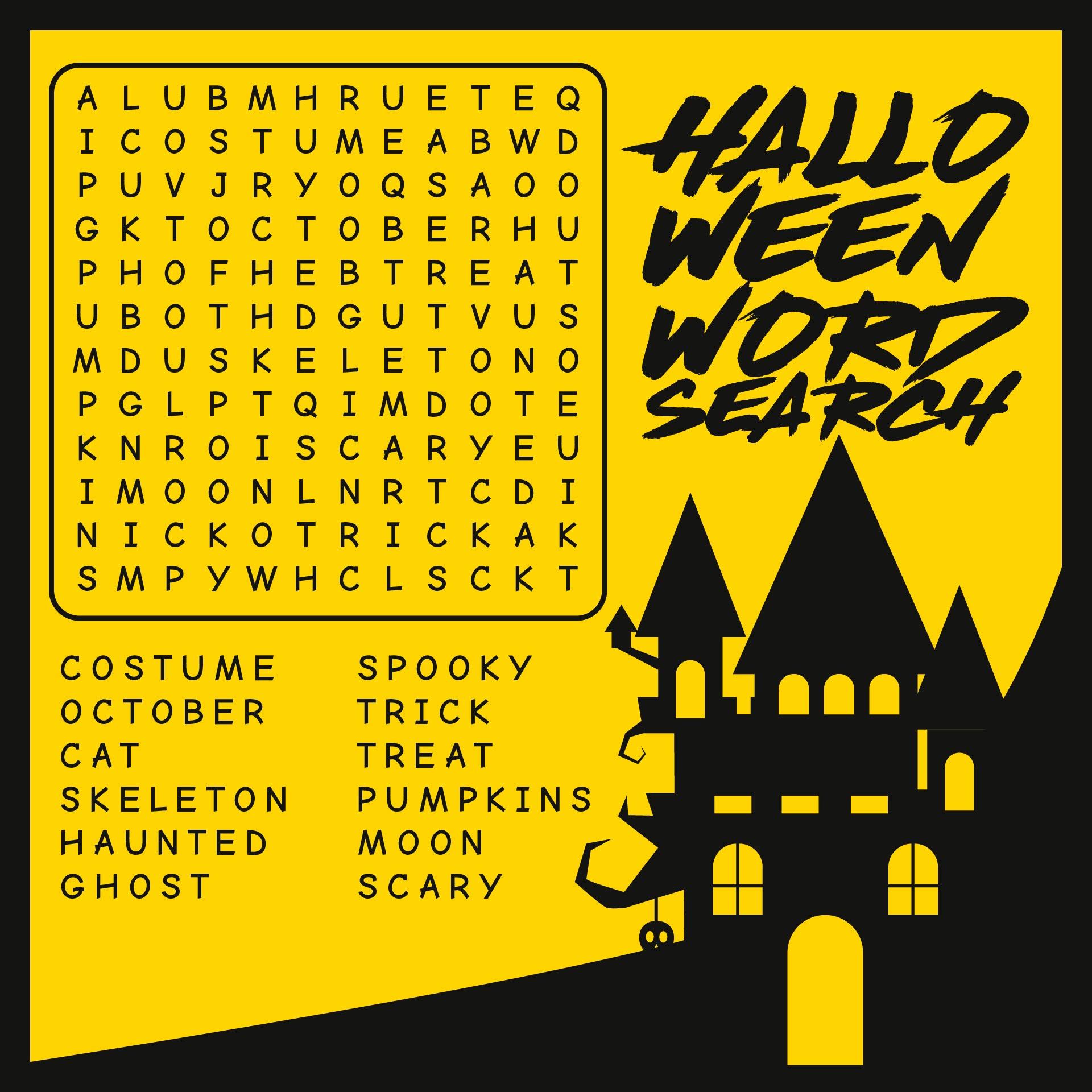 Fun Halloween Word Search Printable
