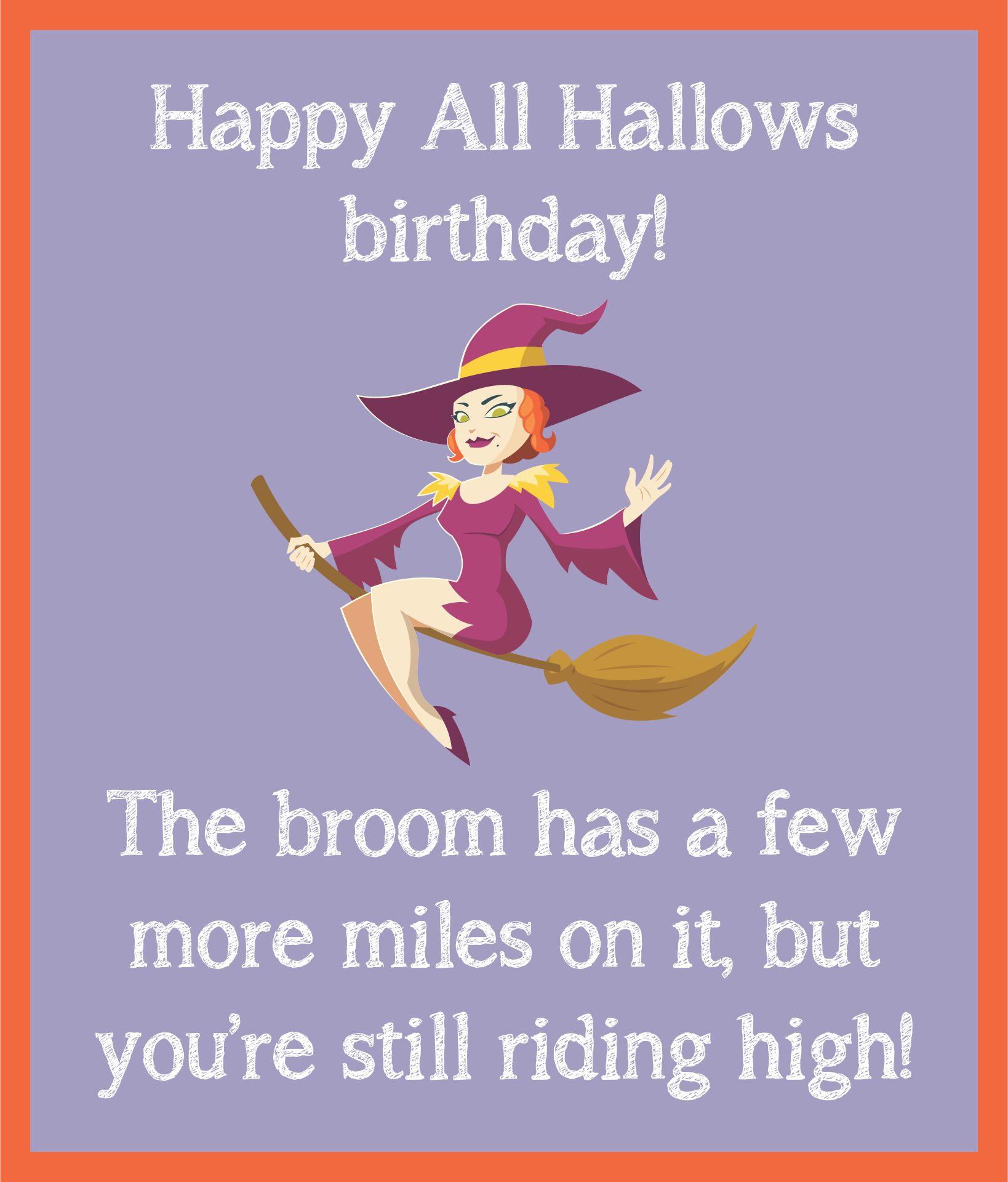 Funny Halloween Birthday Cards
