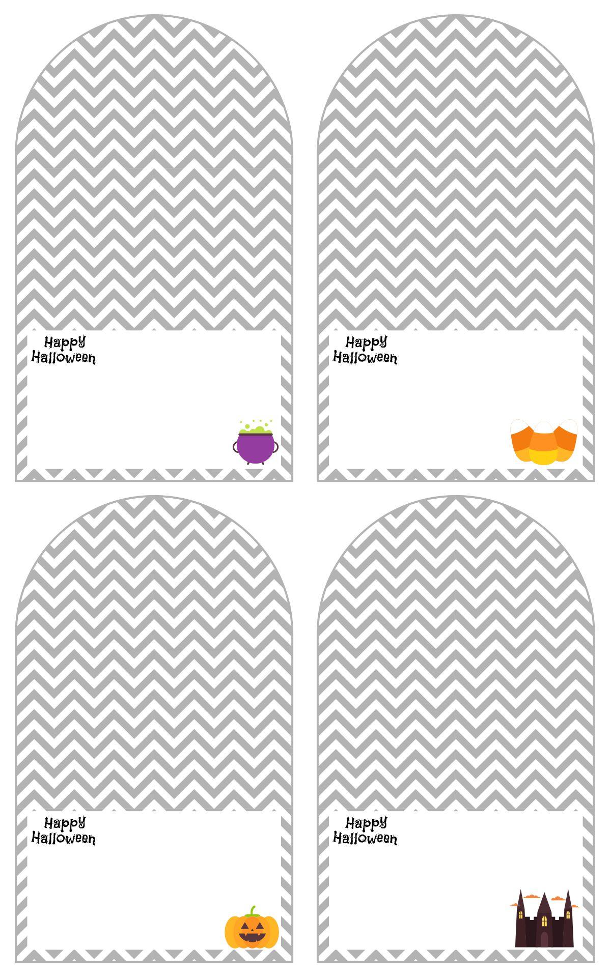 Grey Gift Tags For Halloween Free Printable