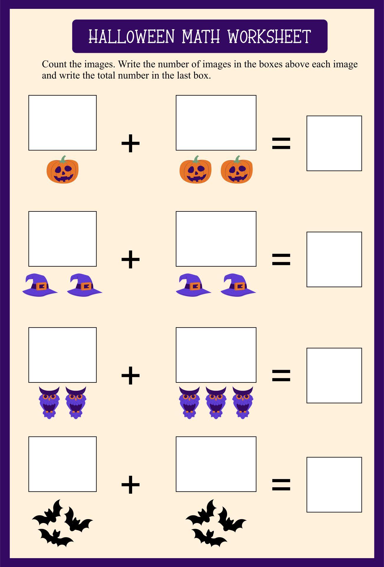 Halloween Activity Sheets For Kindergarten